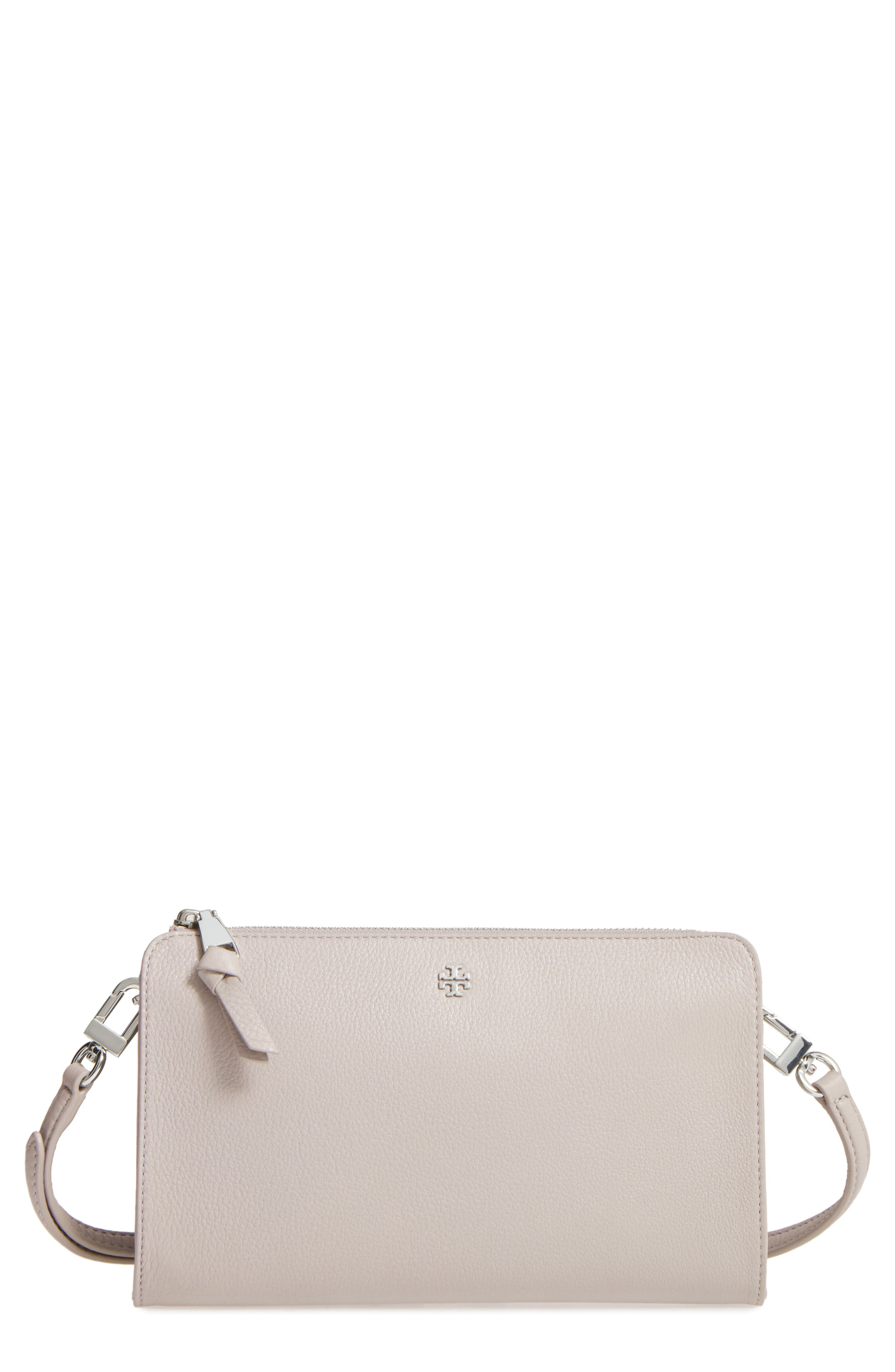 Main Image - Tory Burch Robinson Leather Wallet/Crossbody Bag
