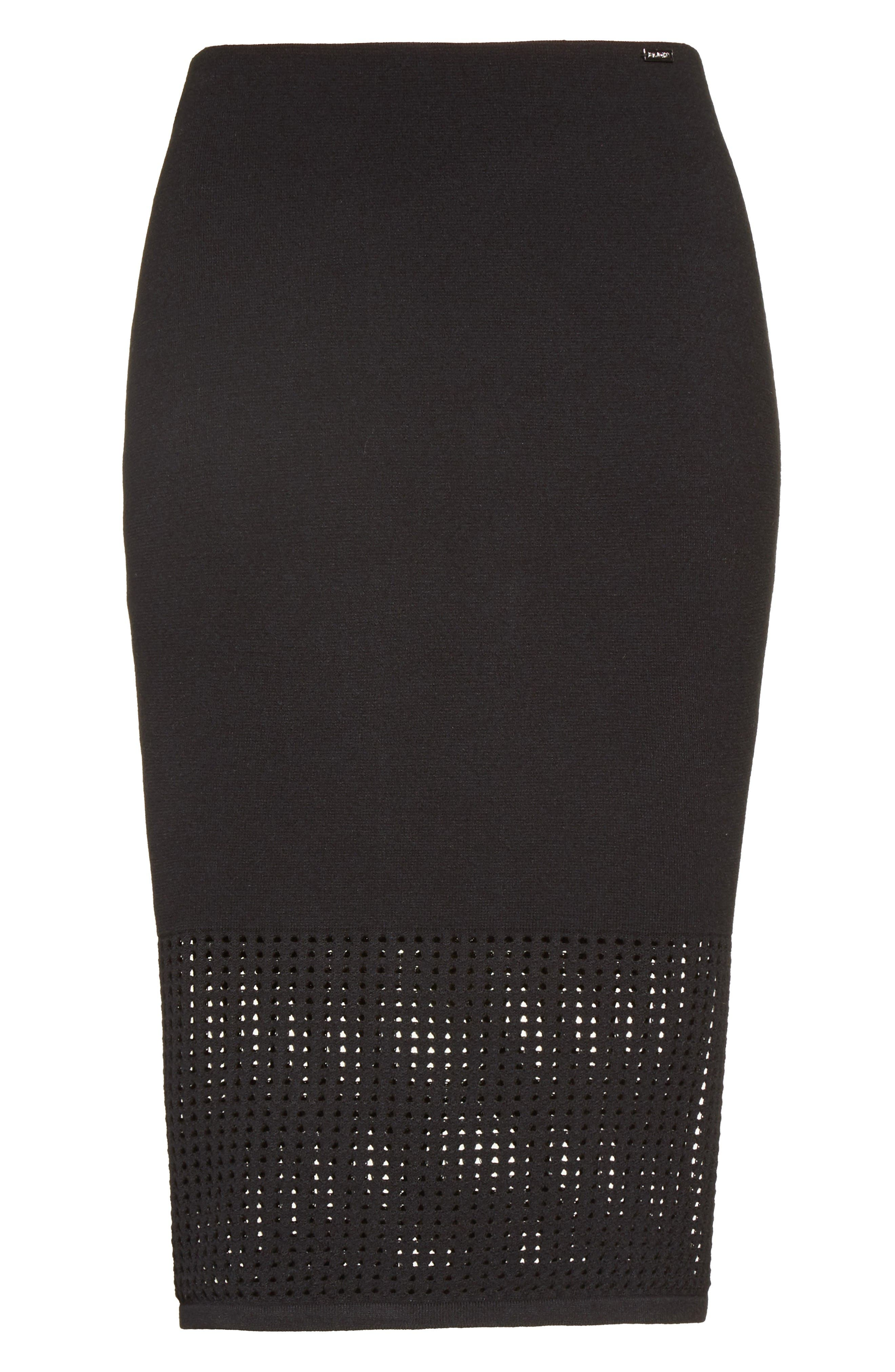 Alternate Image 6  - St. John Collection Technical Mesh Knit Pencil Skirt