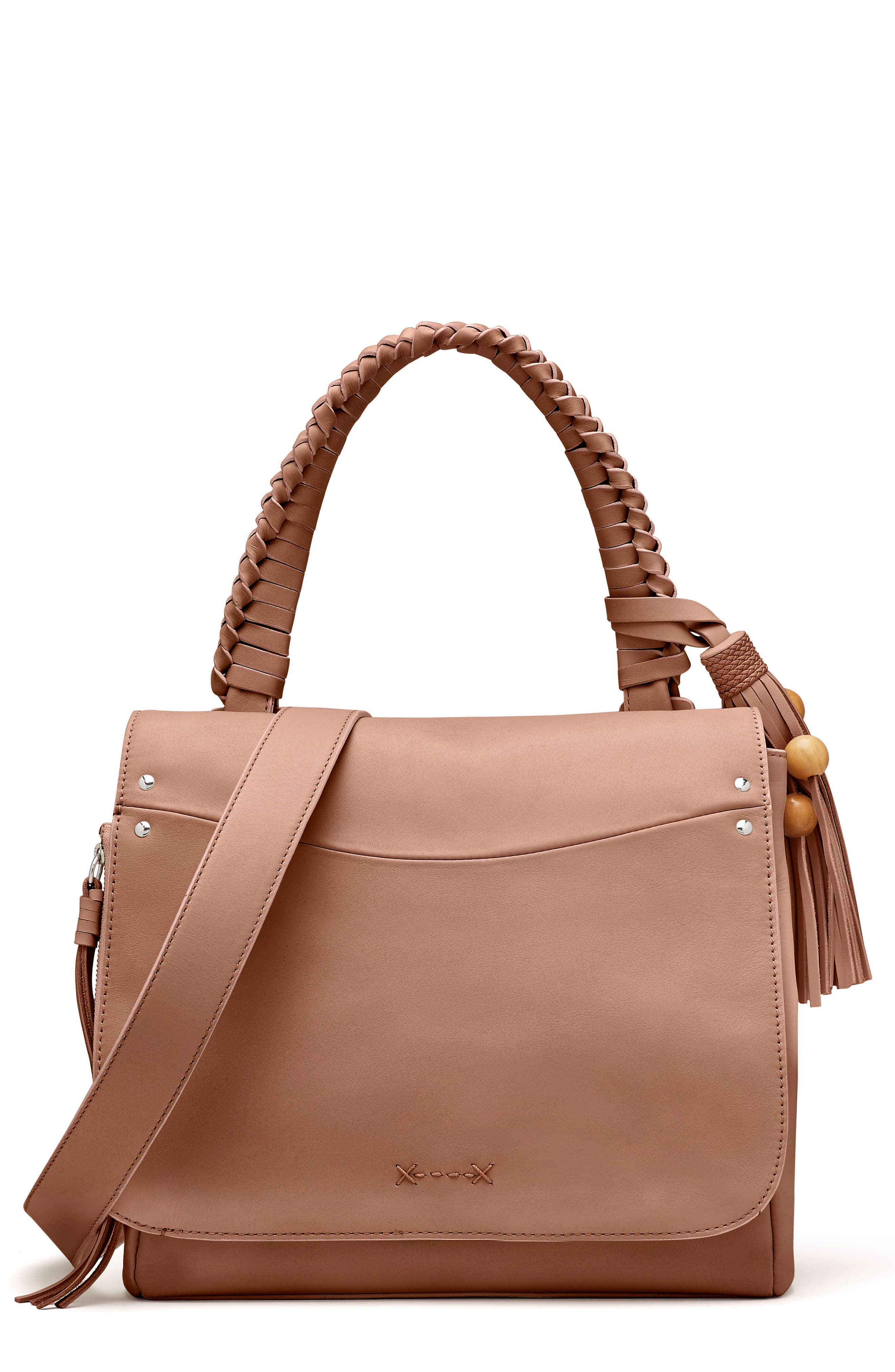 Main Image - Elizabeth and James Trapeze Leather Top Handle Satchel