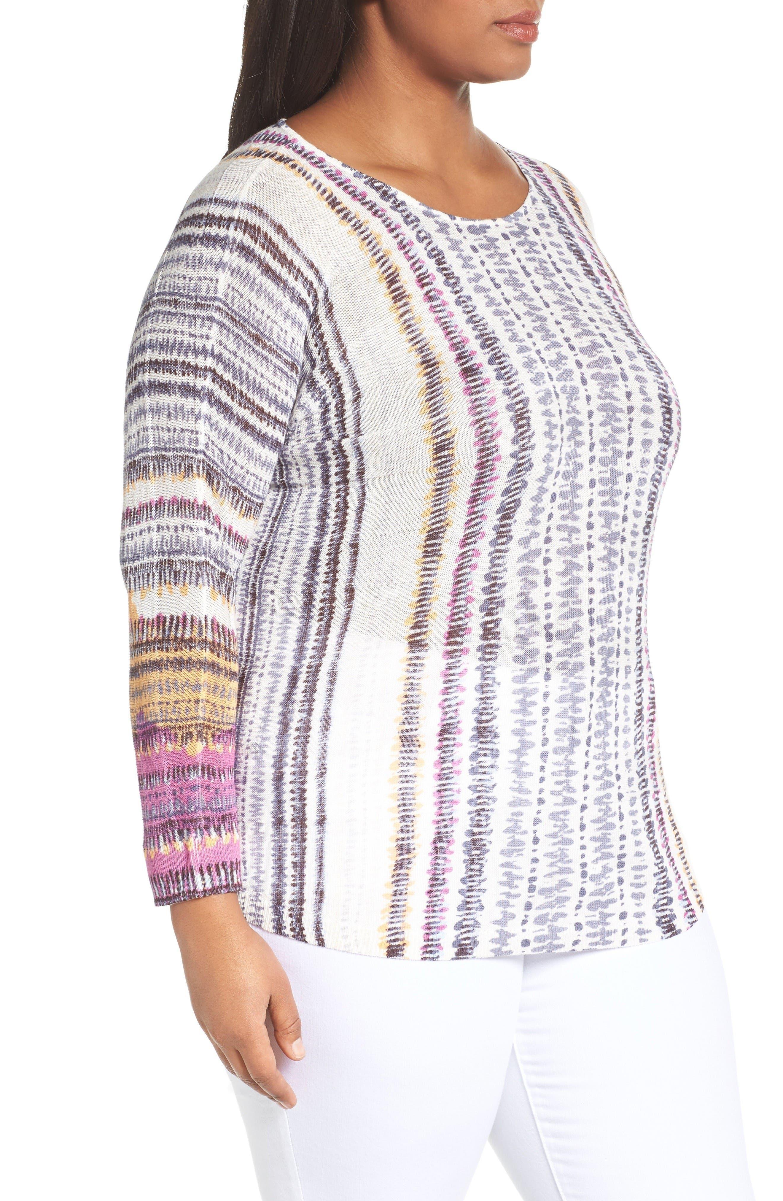Bright Beat Sweater,                             Alternate thumbnail 3, color,                             Blue Multi