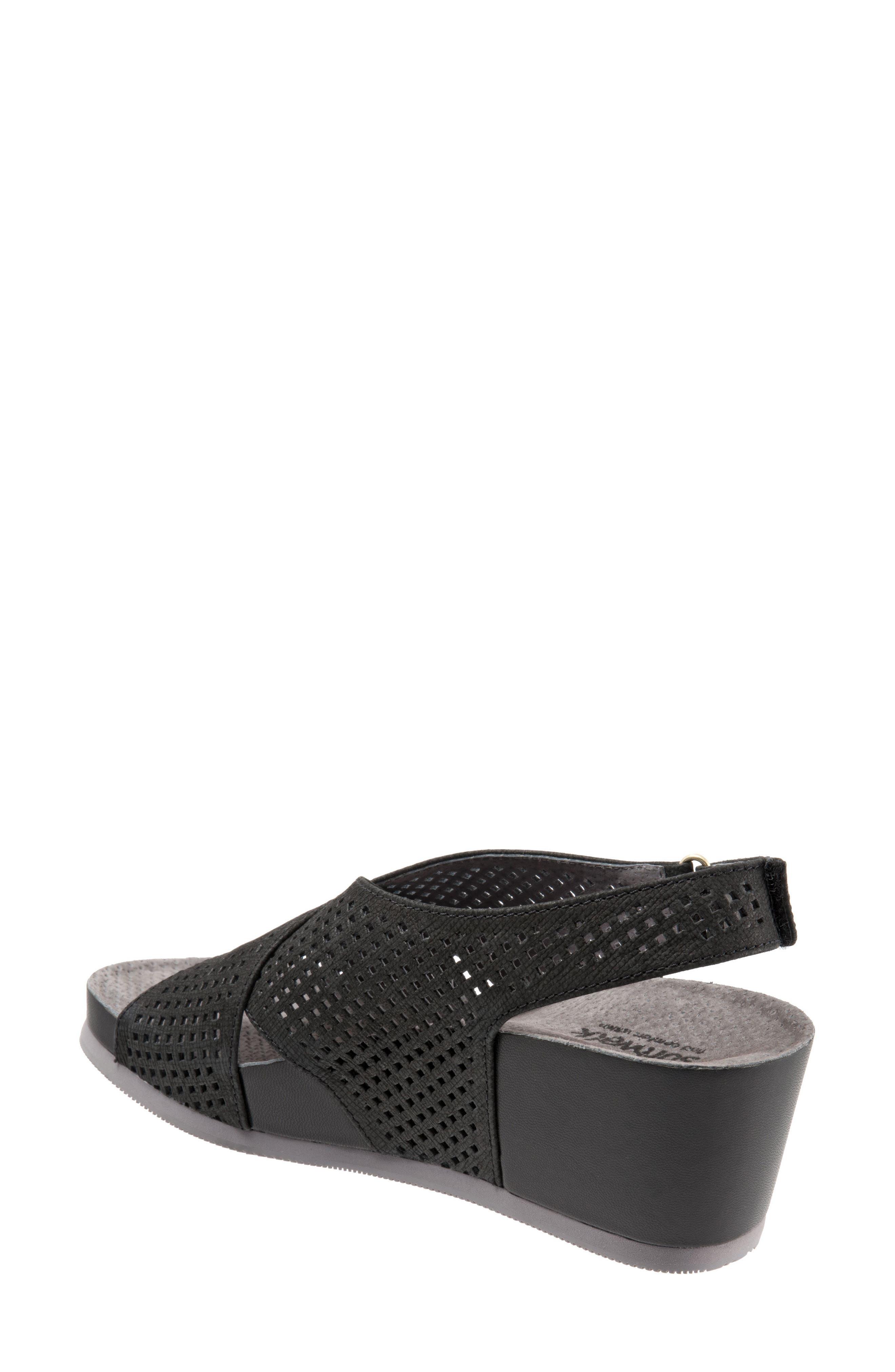Hansford Wedge Sandal,                             Alternate thumbnail 2, color,                             Black Nubuck Leather