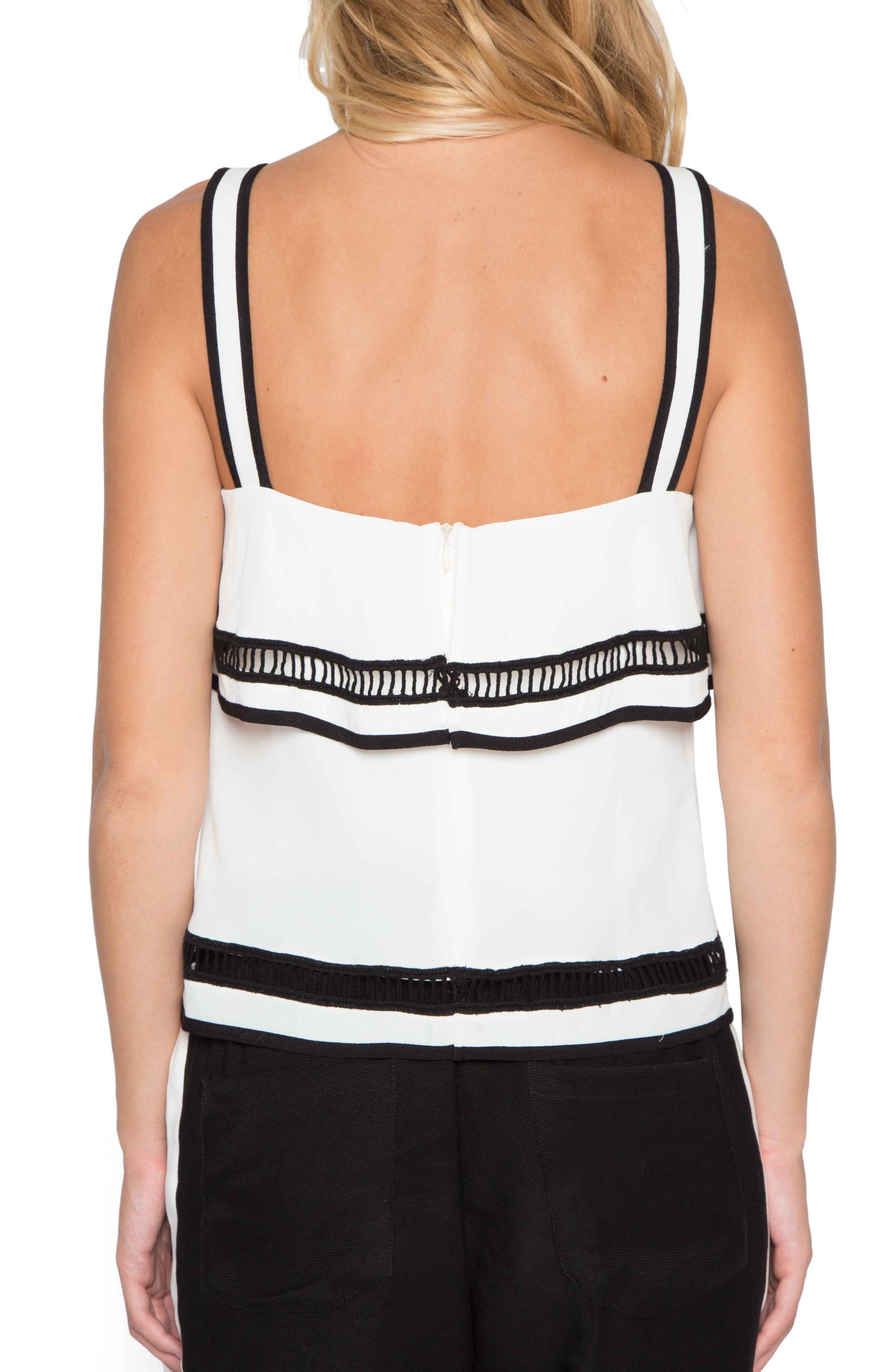 Ladder Stitch Tank,                             Alternate thumbnail 2, color,                             Ivory