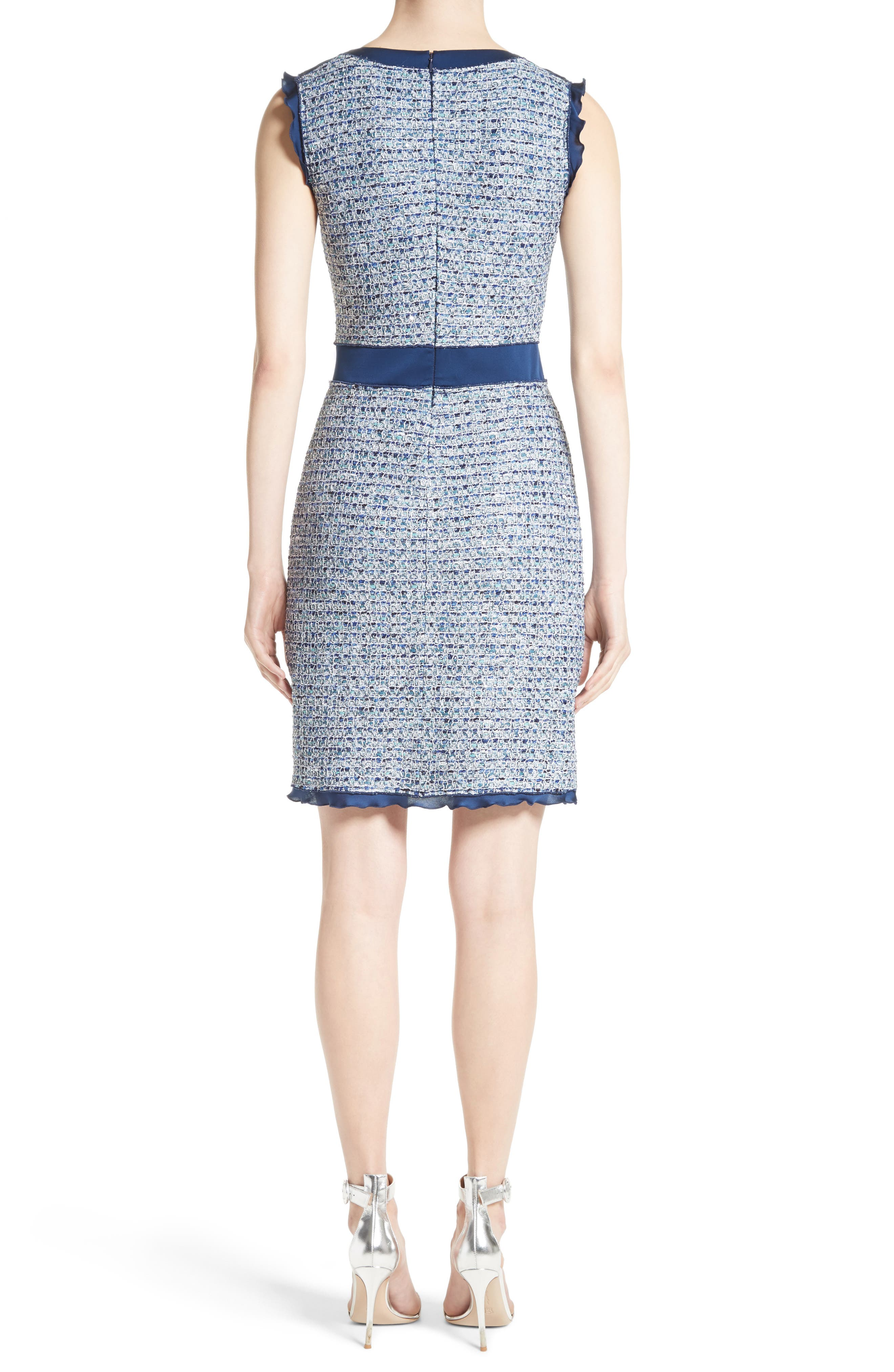 Alternate Image 2  - St. John Collection Kiara Tweed A-Line Dress