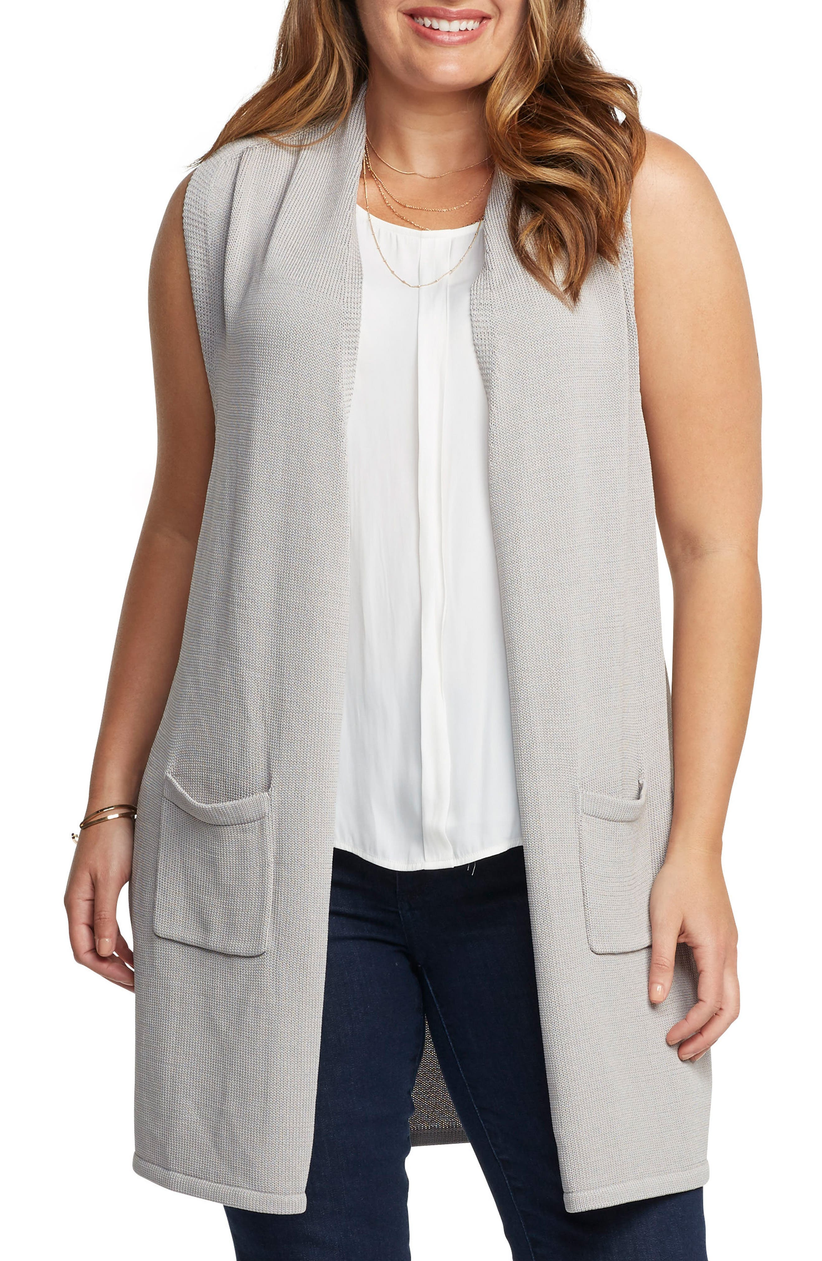 Alternate Image 1 Selected - Tart Holly Knit Open Front Vest (Plus Size)
