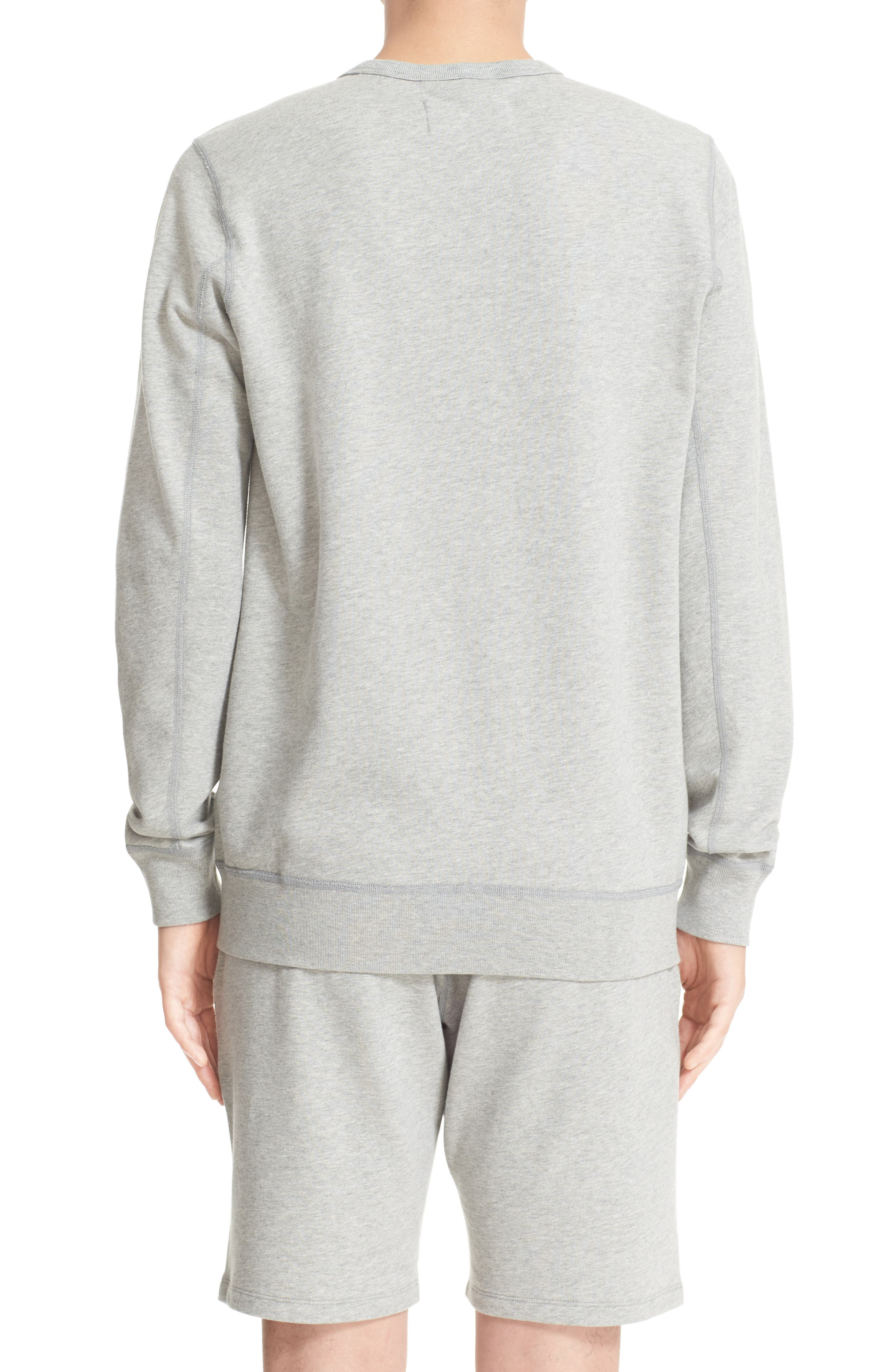French Terry Sweatshirt,                             Alternate thumbnail 2, color,                             Heather Grey