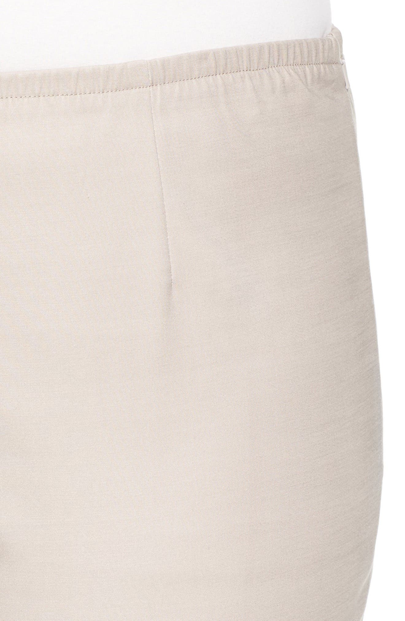 Perfect Side Zip Ankle Pants,                             Alternate thumbnail 4, color,                             French Linen