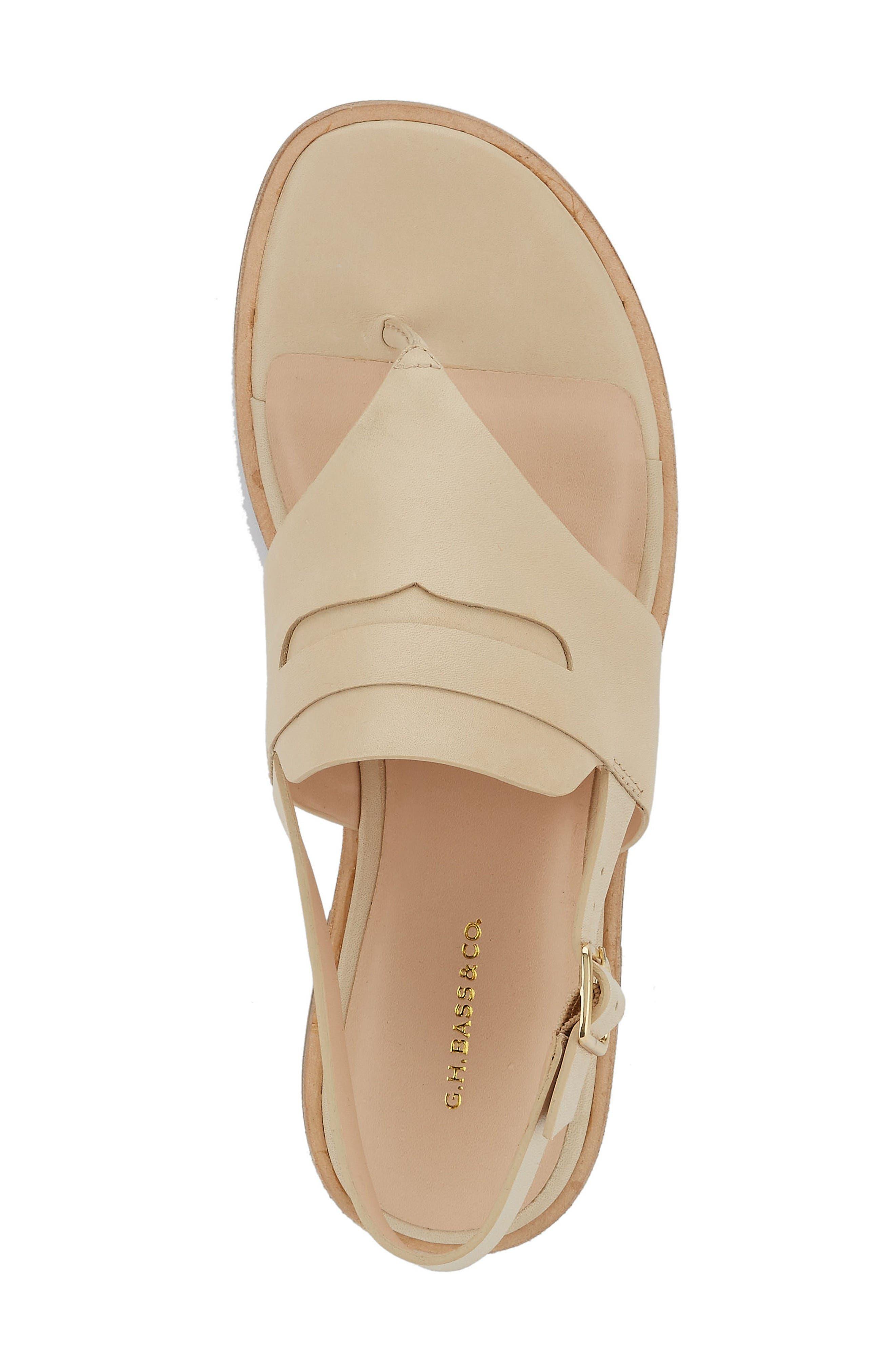 Maddie Slingback Sandal,                             Alternate thumbnail 3, color,                             Cream Leather