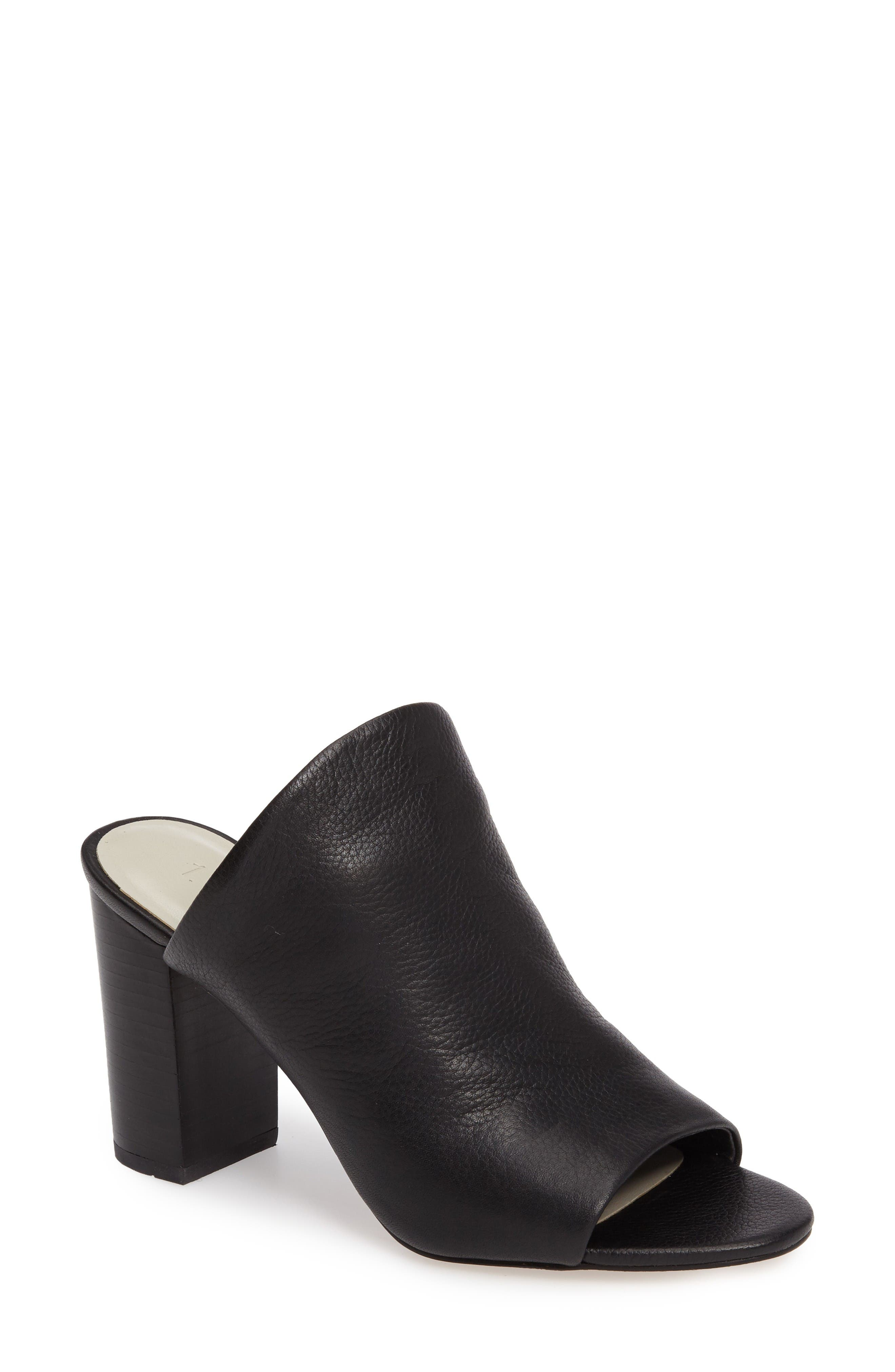 Sloan Mule,                         Main,                         color, Black Leather
