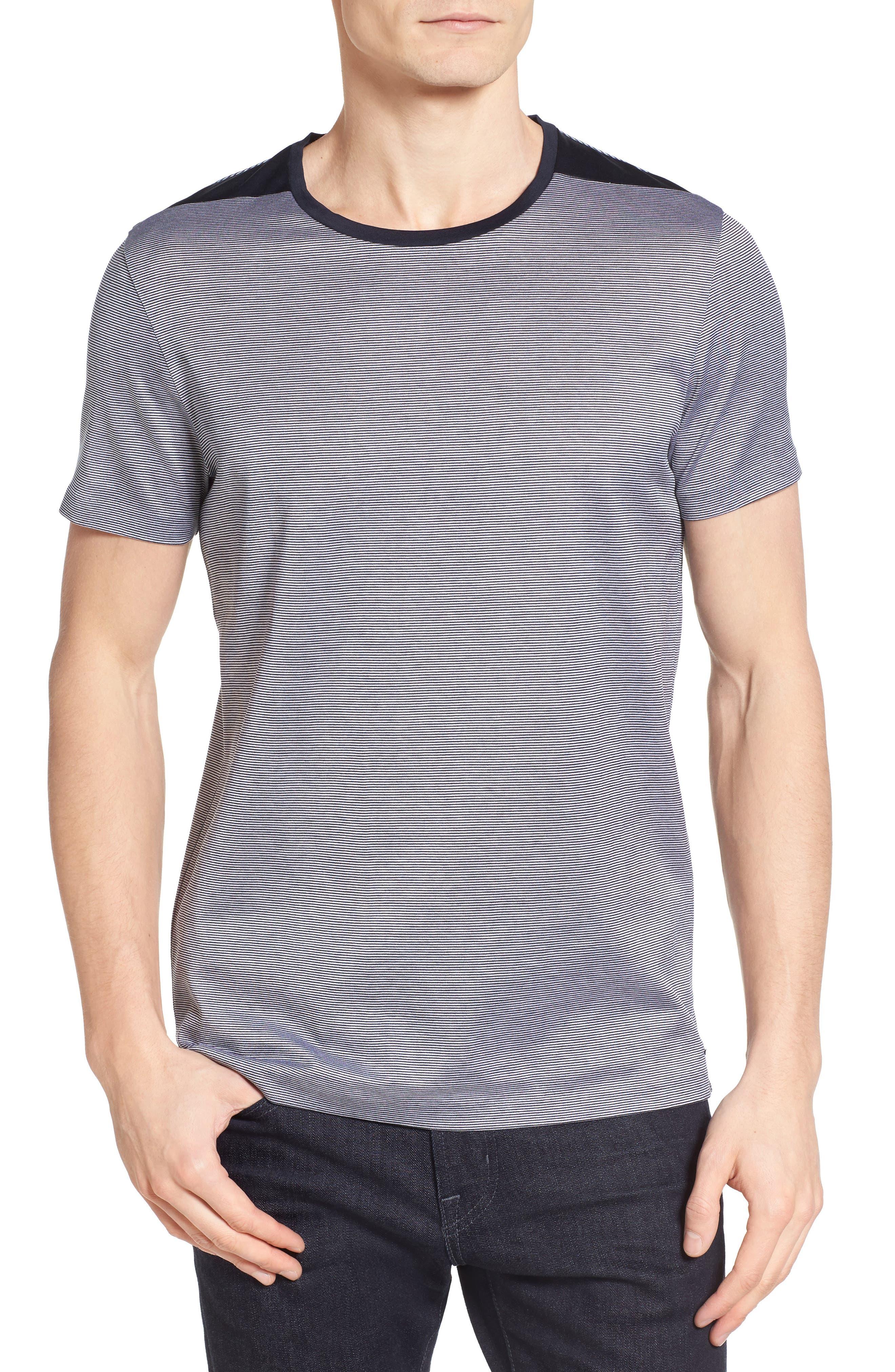 BOSS Tessler Stripe Mercerized Cotton T-Shirt