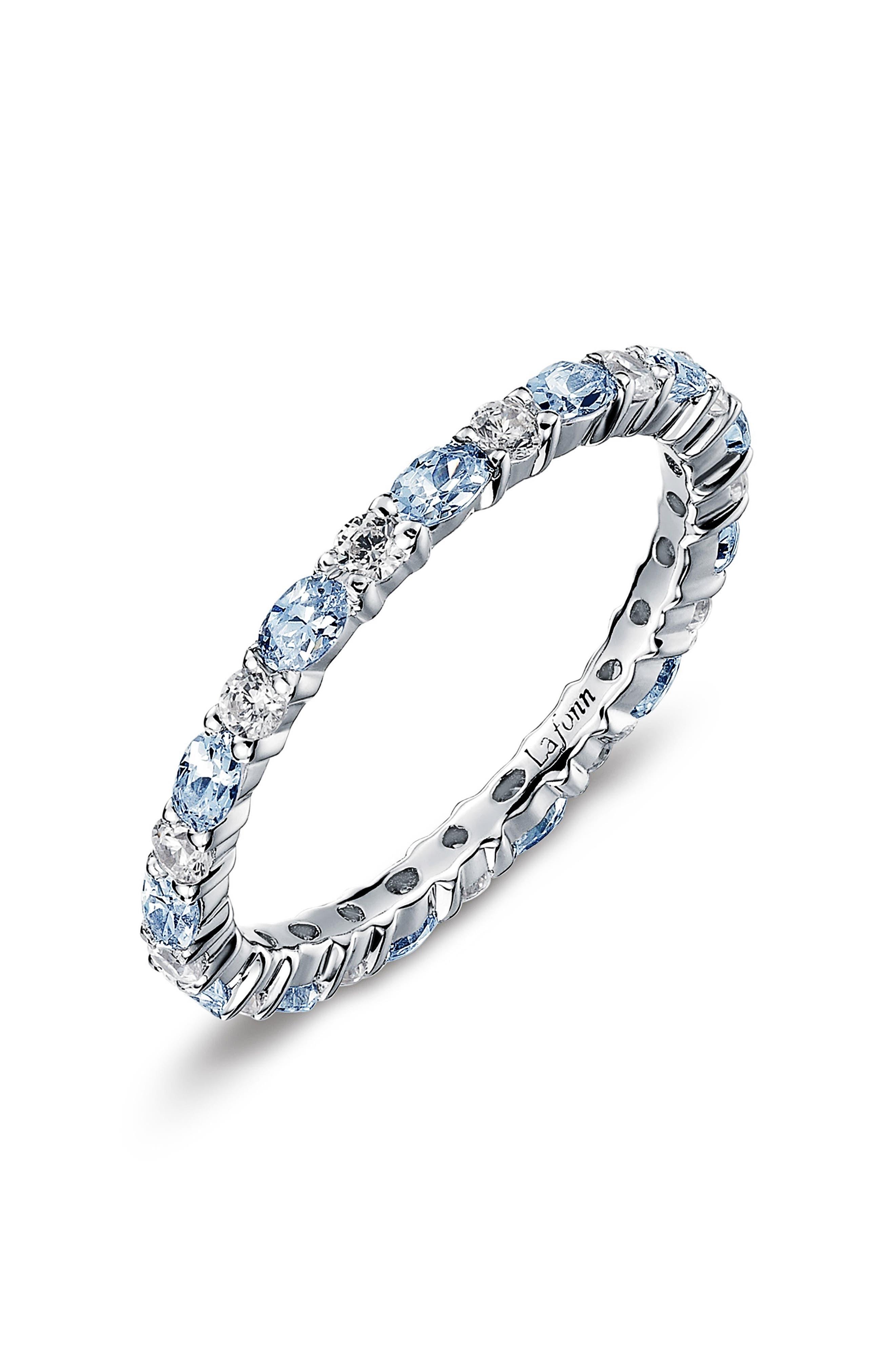 Lafonn Simulated Diamond Birthstone Band Ring