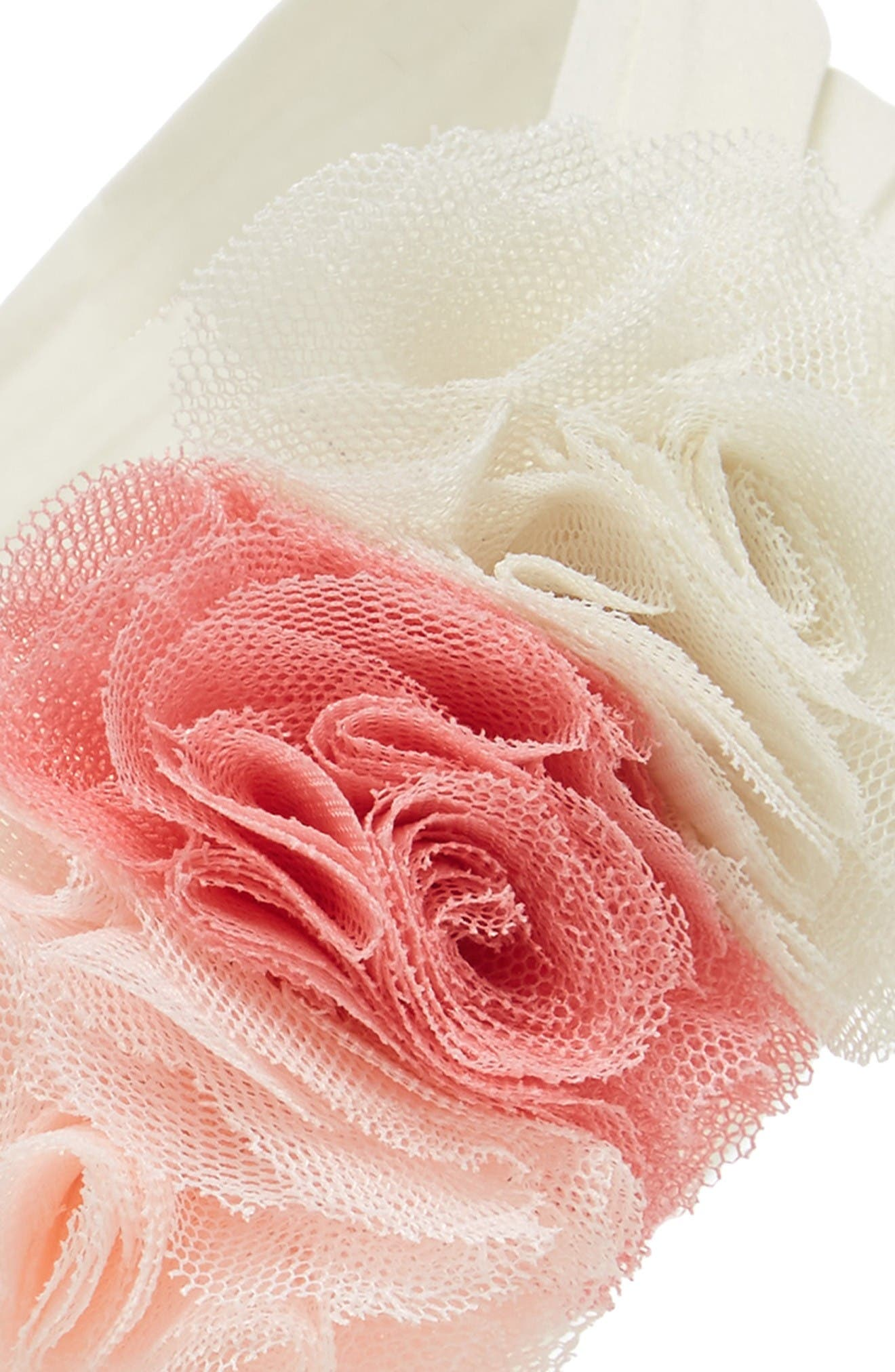 Alternate Image 2  - Baby Bling Mesh Flower Head Wrap (Baby)