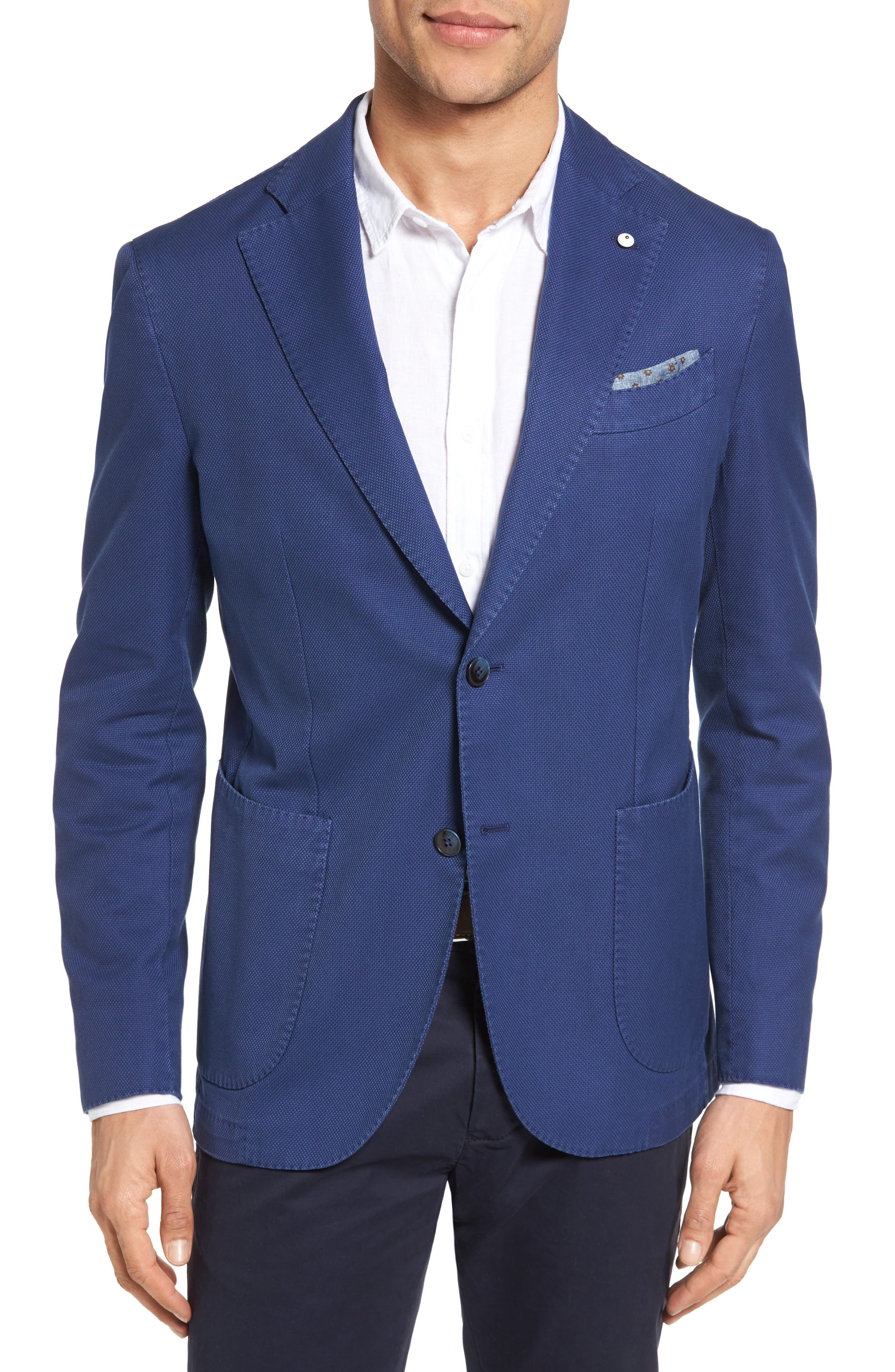 Alternate Image 1 Selected - L.B.M. 1911 Unconstructed Classic Fit Cotton Blazer