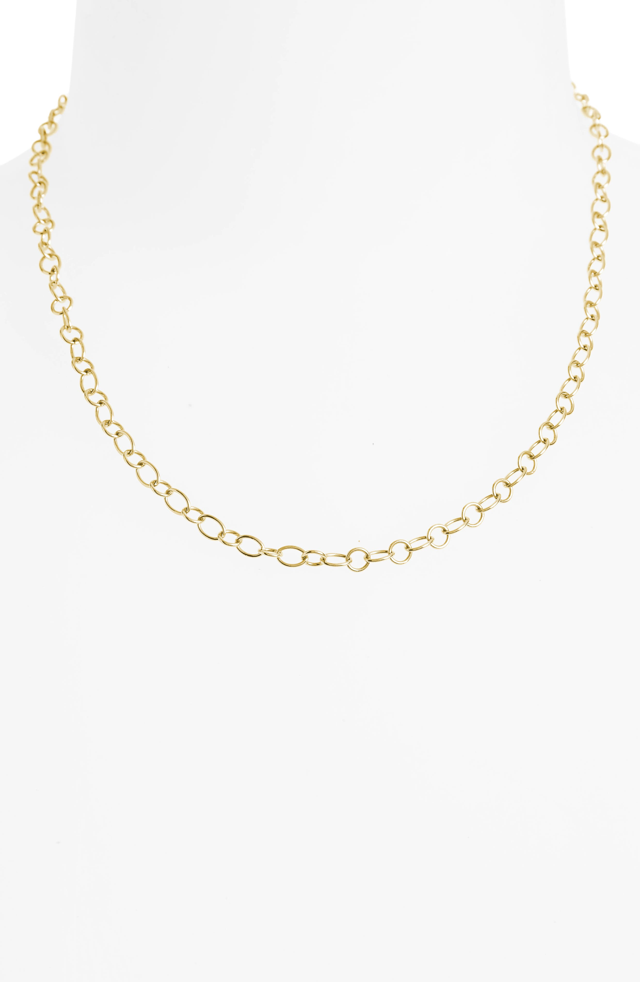 Alternate Image 2  - Temple St. Clair 18-Inch Ribbon Chain Necklace
