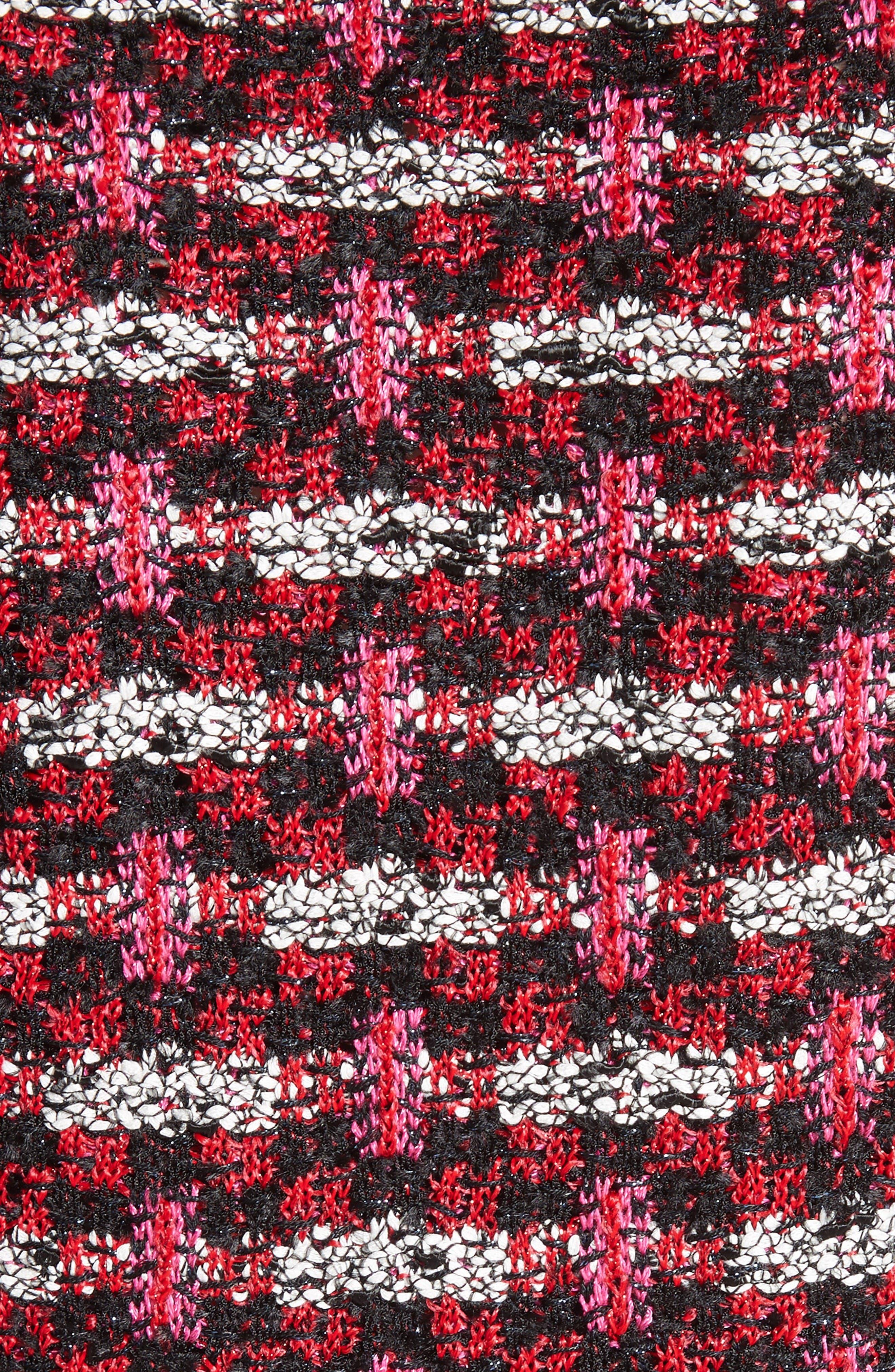 Hiran Tweed Knit Jacket,                             Alternate thumbnail 5, color,                             Scarlet Multi