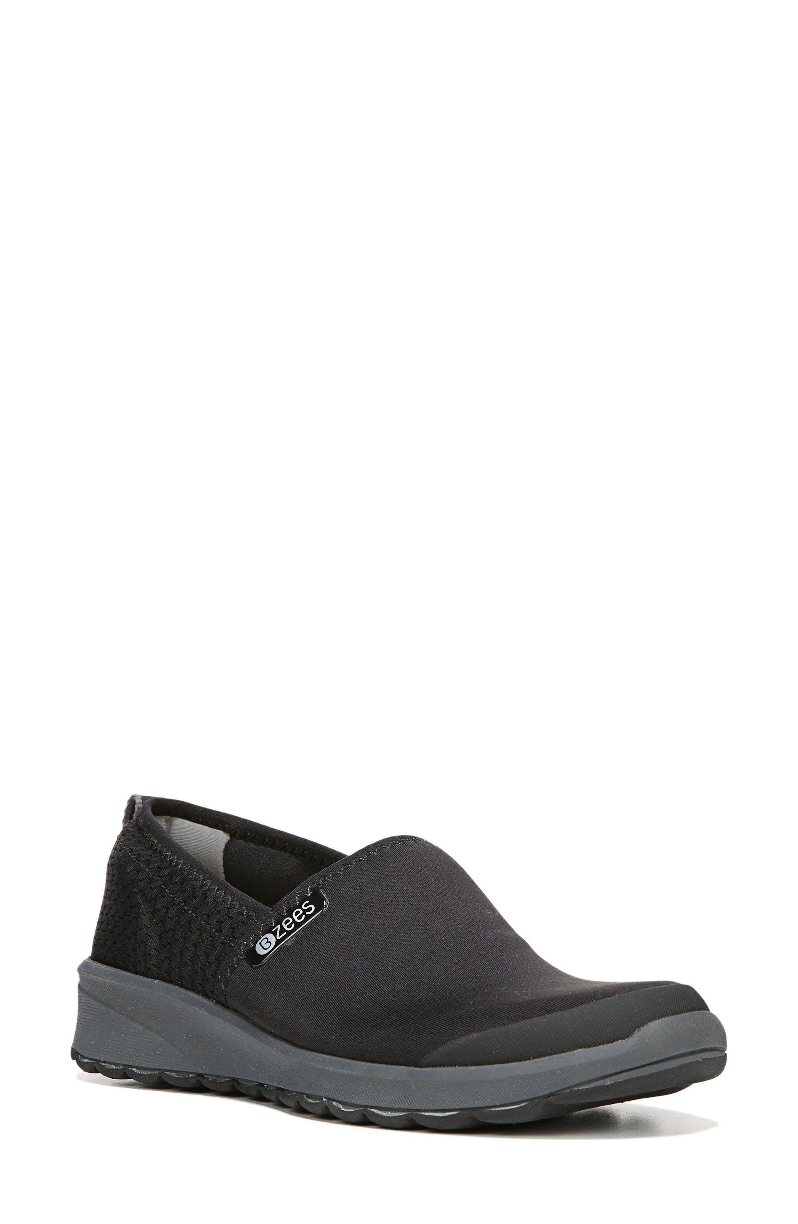 Glee Slip-On Sneaker,                             Main thumbnail 1, color,                             Black Fabric