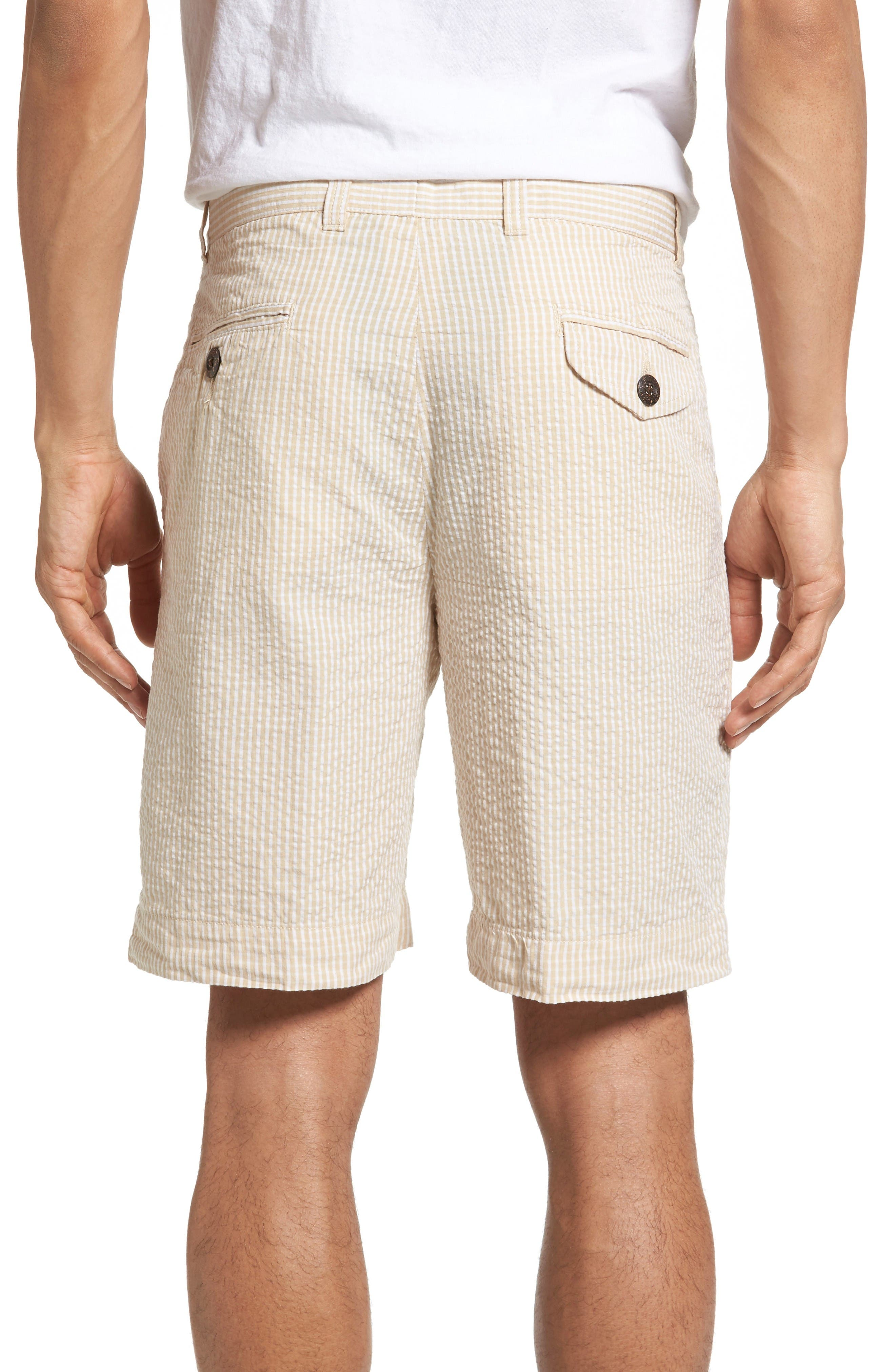 Stripe Seersucker Shorts,                             Alternate thumbnail 2, color,                             Tan