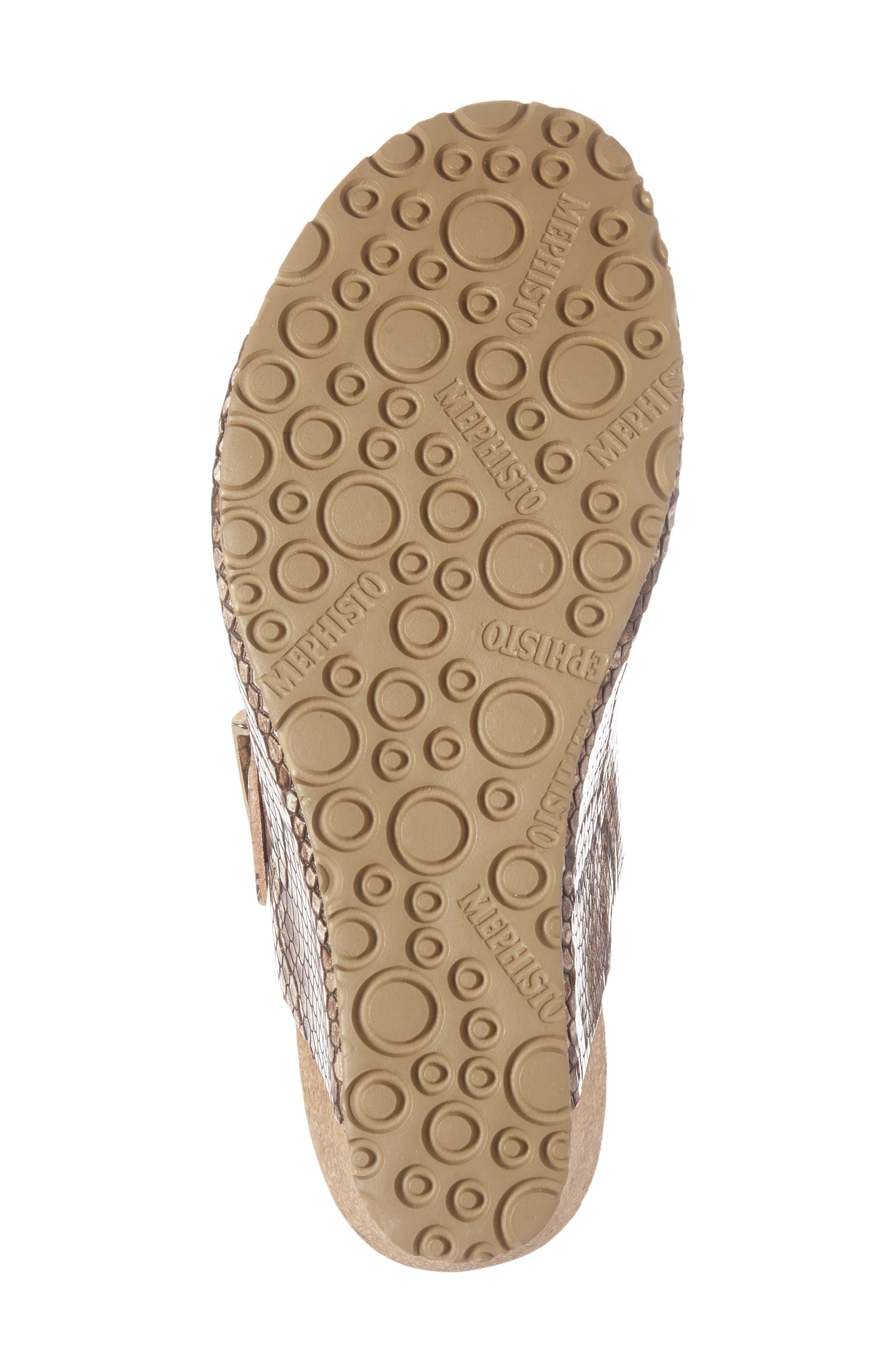 Lenia Wedge Sandal,                             Alternate thumbnail 4, color,                             Brown Leather