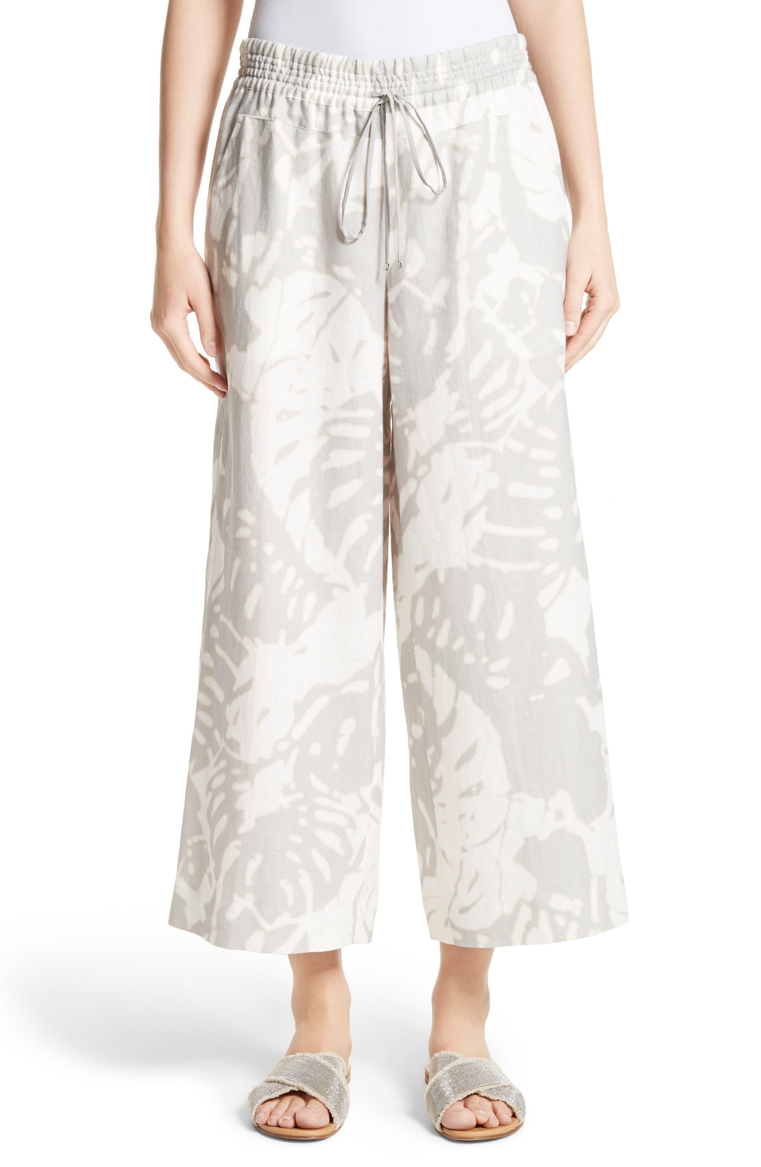 Lafayette 148 New York Crop Linen Drawstring Pants