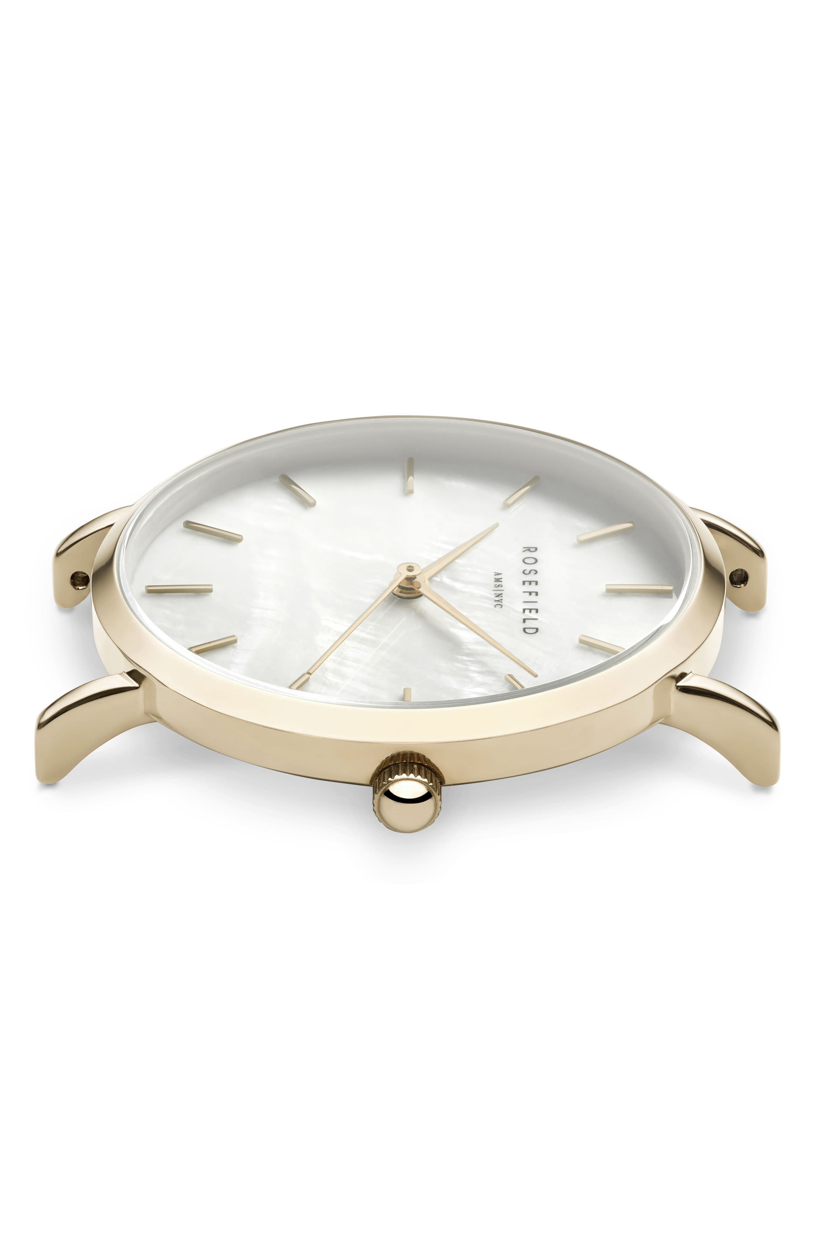 Upper East Side Bracelet Watch, 33mm,                             Alternate thumbnail 3, color,                             Gold/ White Pearl/ Gold