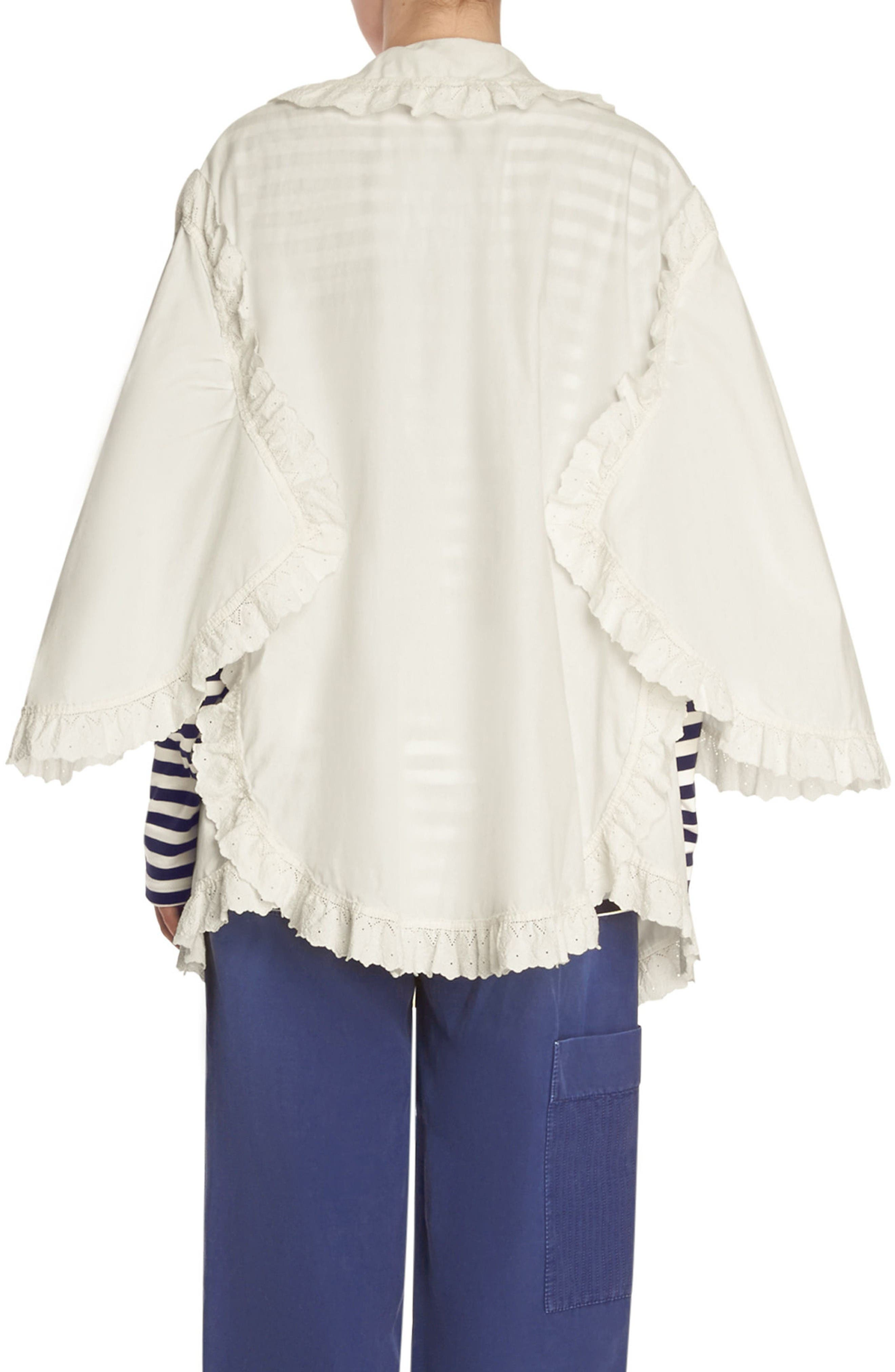 Alternate Image 2  - Burberry Ruffle Blouse