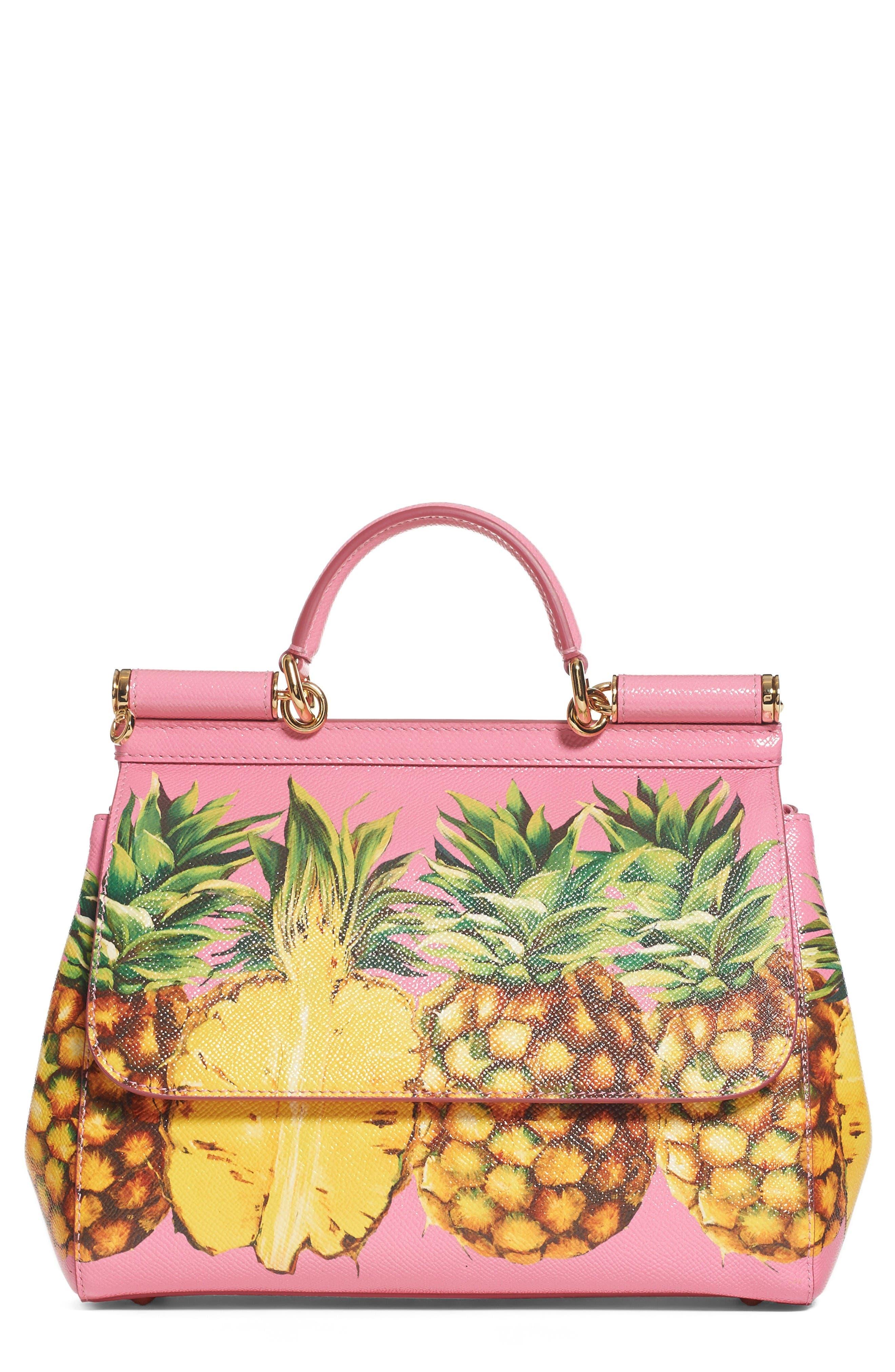 Alternate Image 1 Selected - Dolce&Gabbana Miss Sicily Pineapple Leather Satchel