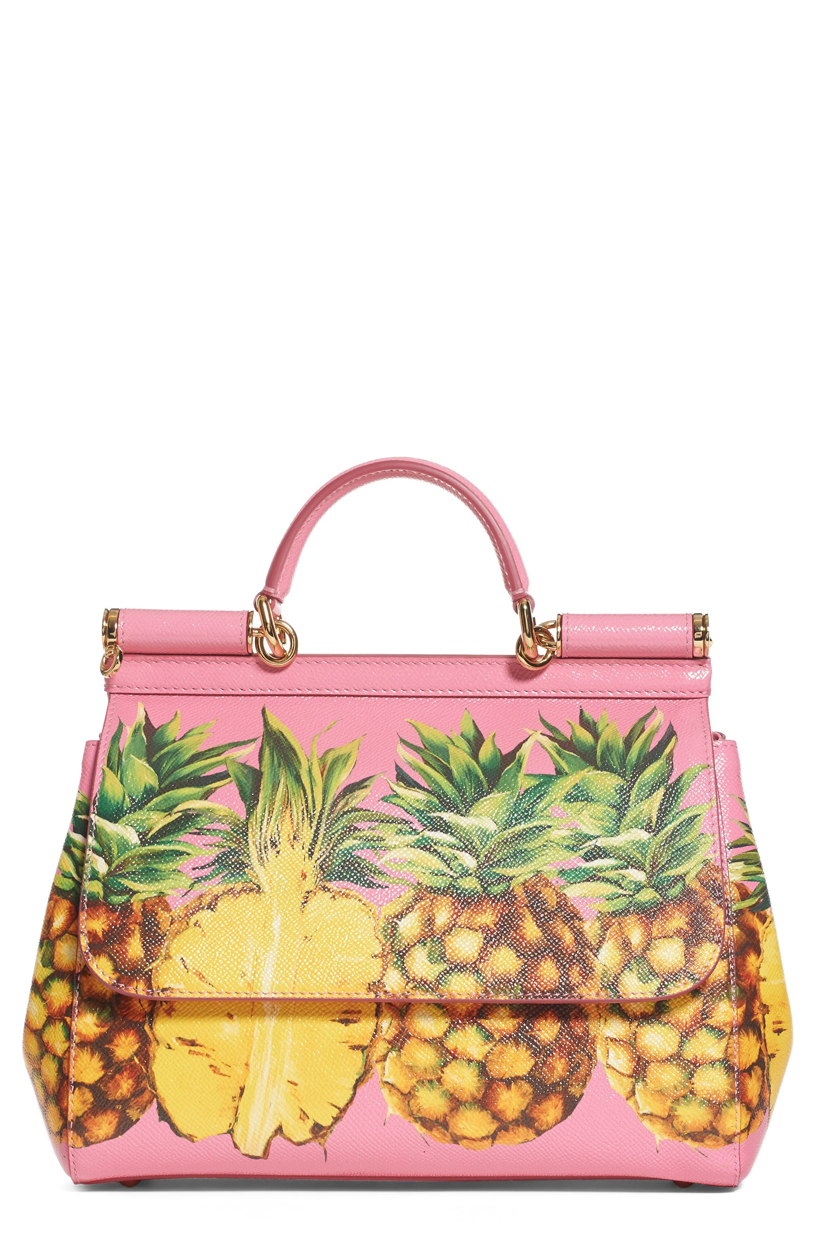 Main Image - Dolce&Gabbana Miss Sicily Pineapple Leather Satchel