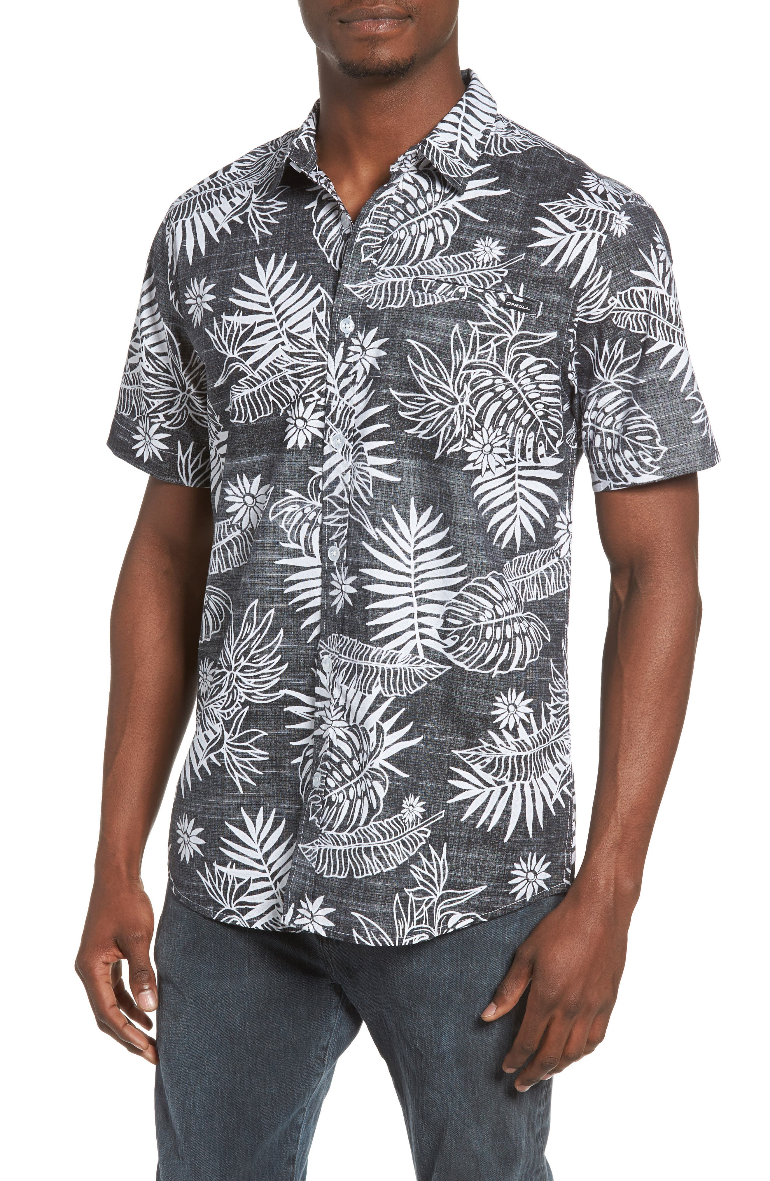 ONEILL Tradewinds Reverse Print Palm Leaf Shirt