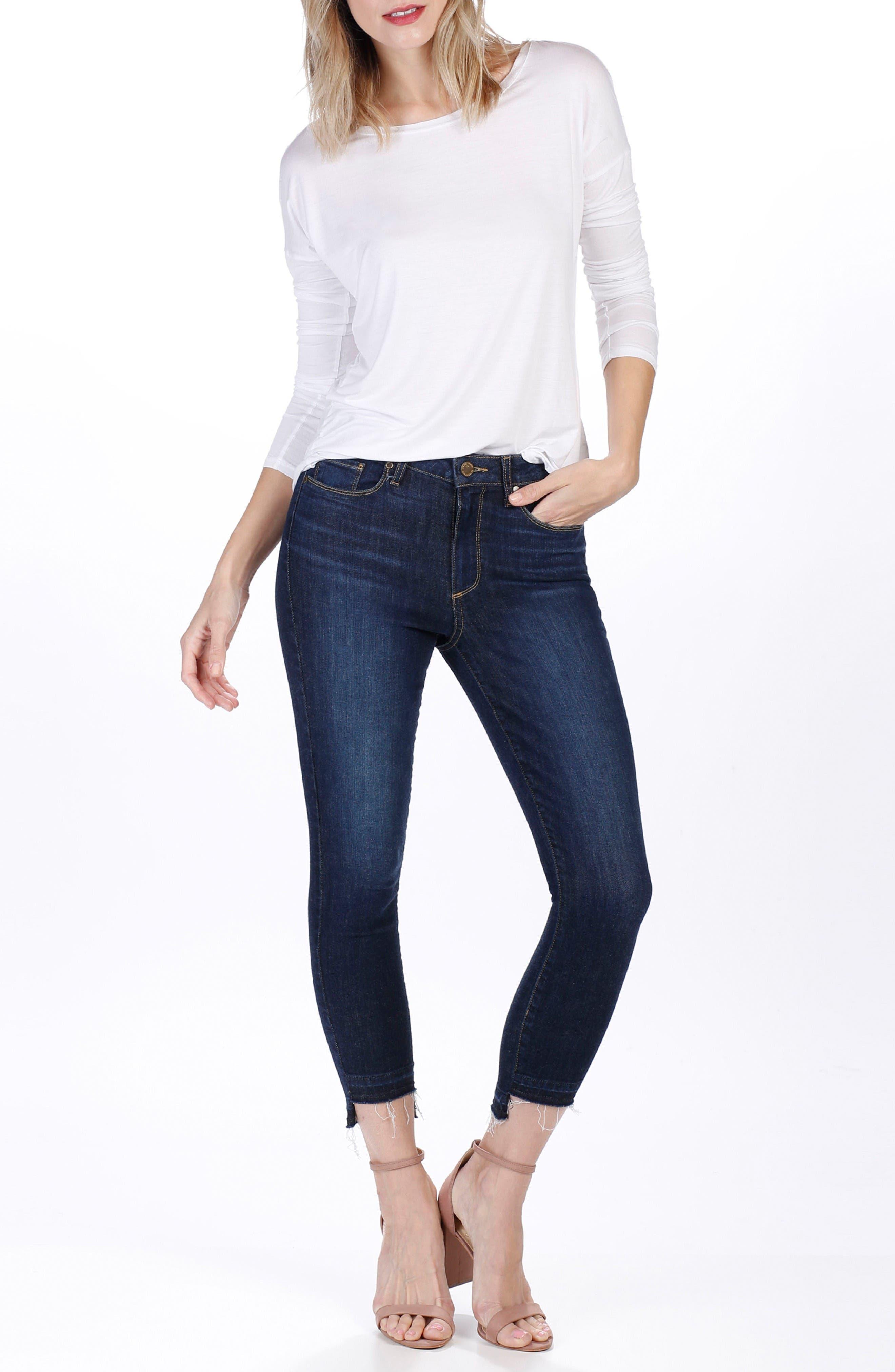 Alternate Image 2  - PAIGE Hoxton High Waist Crop Ultra Skinny Jeans (Emery)