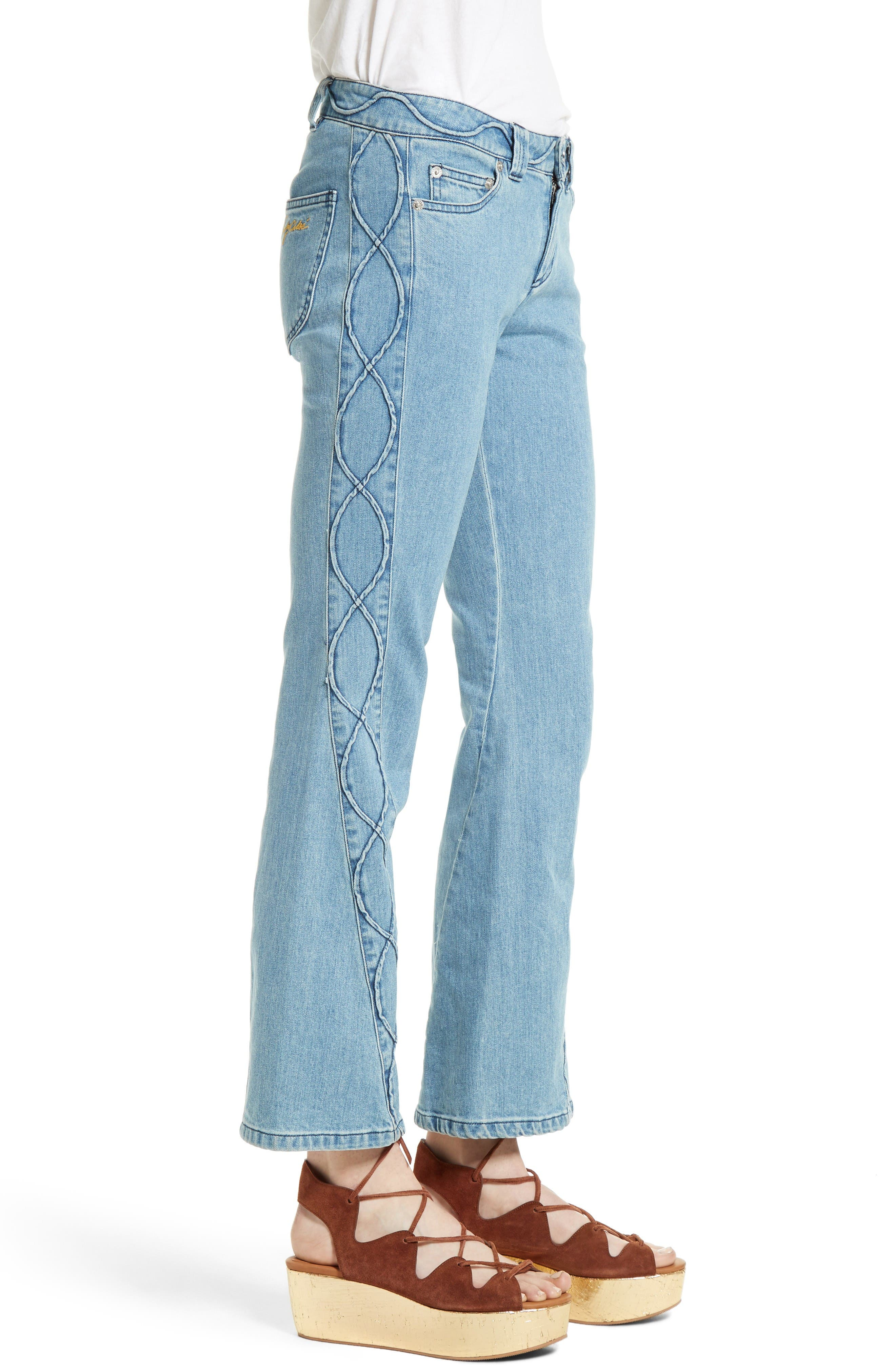 Alternate Image 3  - See by Chloé Iconic Ankle Flare Jeans (Stoned Indigo)