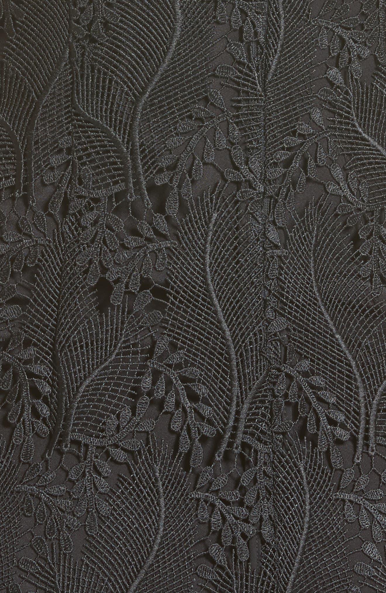 Alternate Image 5  - Diane von Furstenberg Lace Overlay Mindress