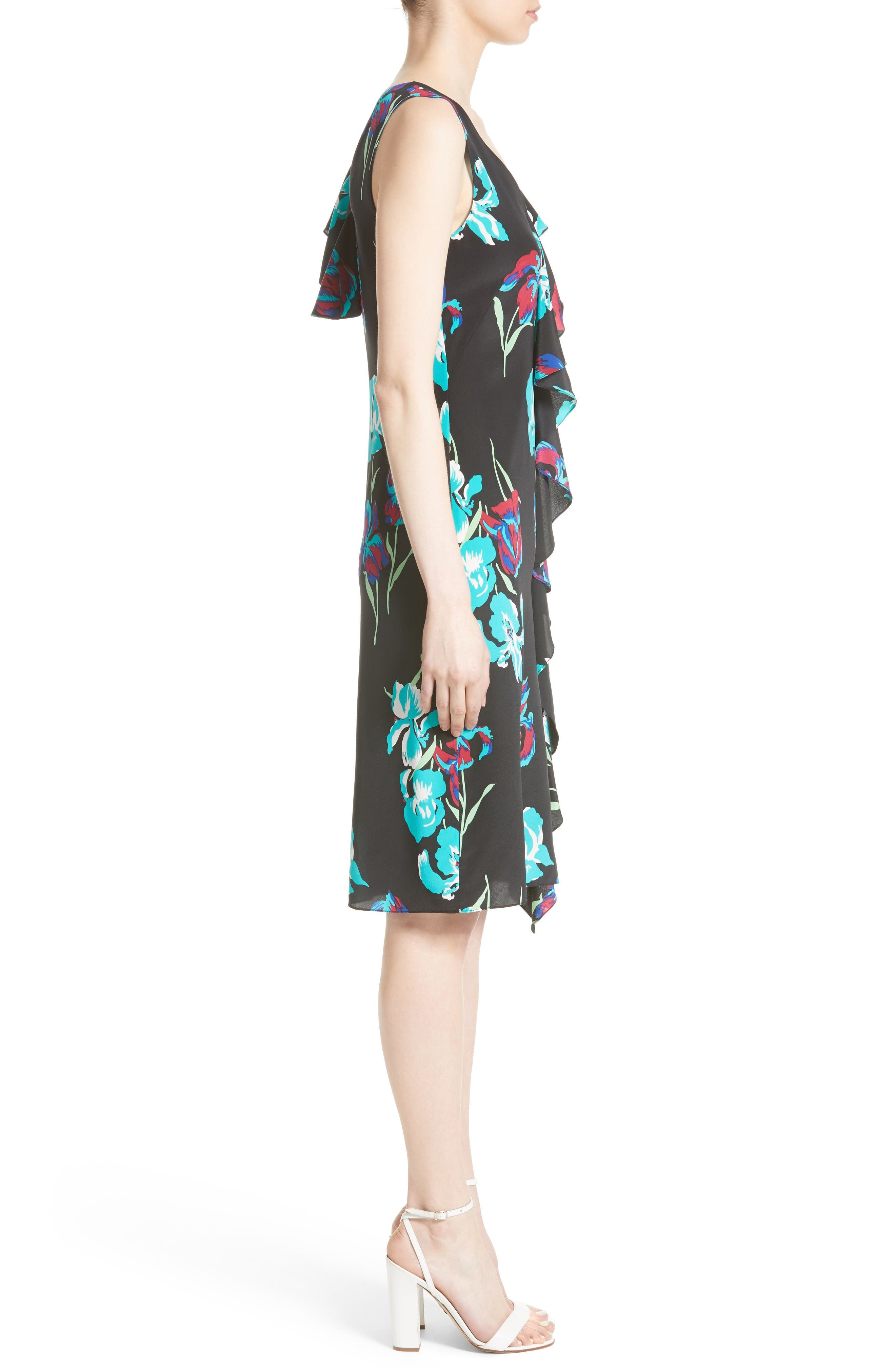 Alternate Image 3  - Diane von Furstenberg Silk Side Ruffle Sheath Dress
