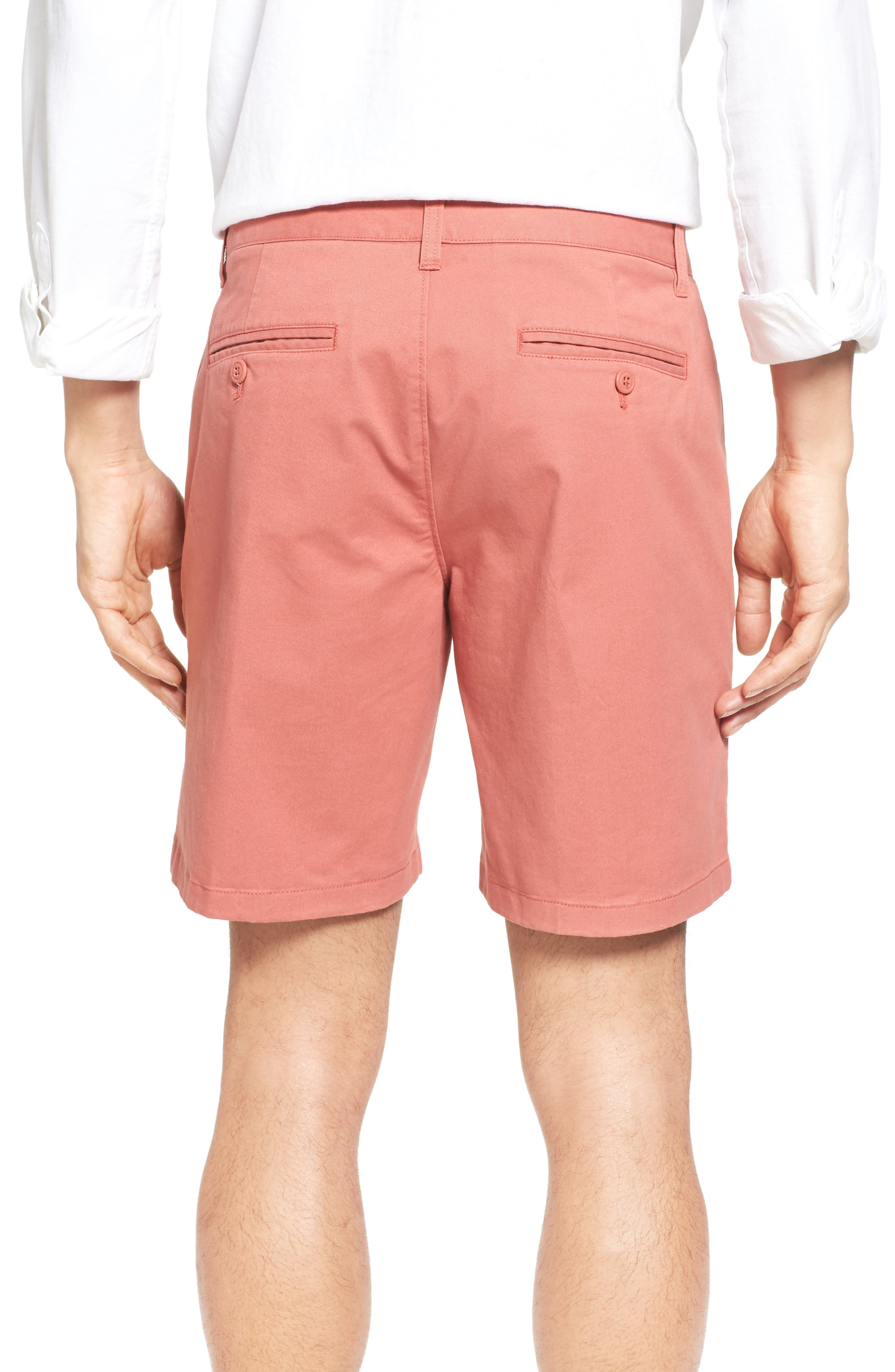 Stretch Washed Chino 7-Inch Shorts,                             Alternate thumbnail 2, color,                             Rich Coral