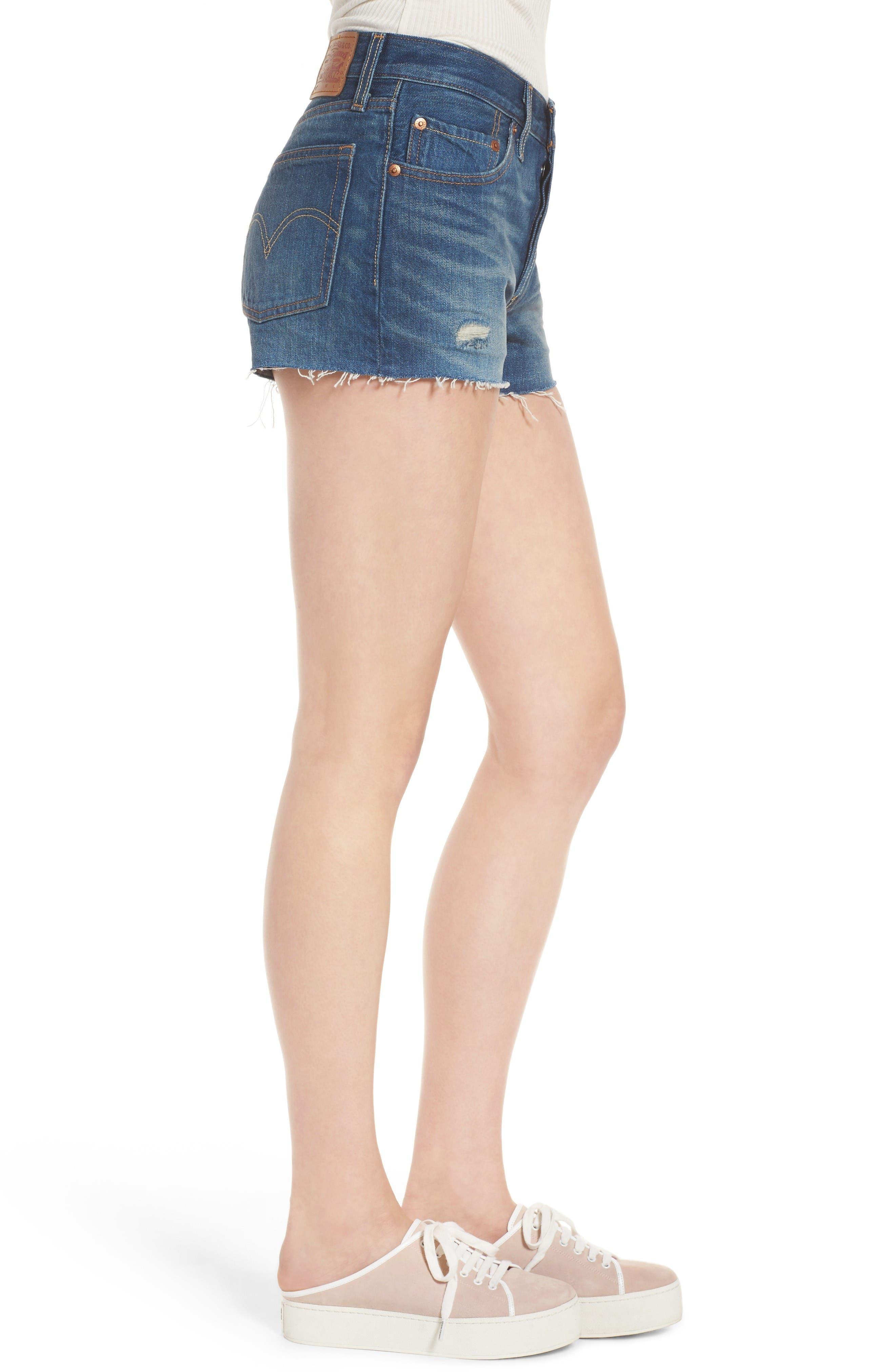 Alternate Image 4  - Levi's® 501® Cutoff Denim Shorts (California Tide)