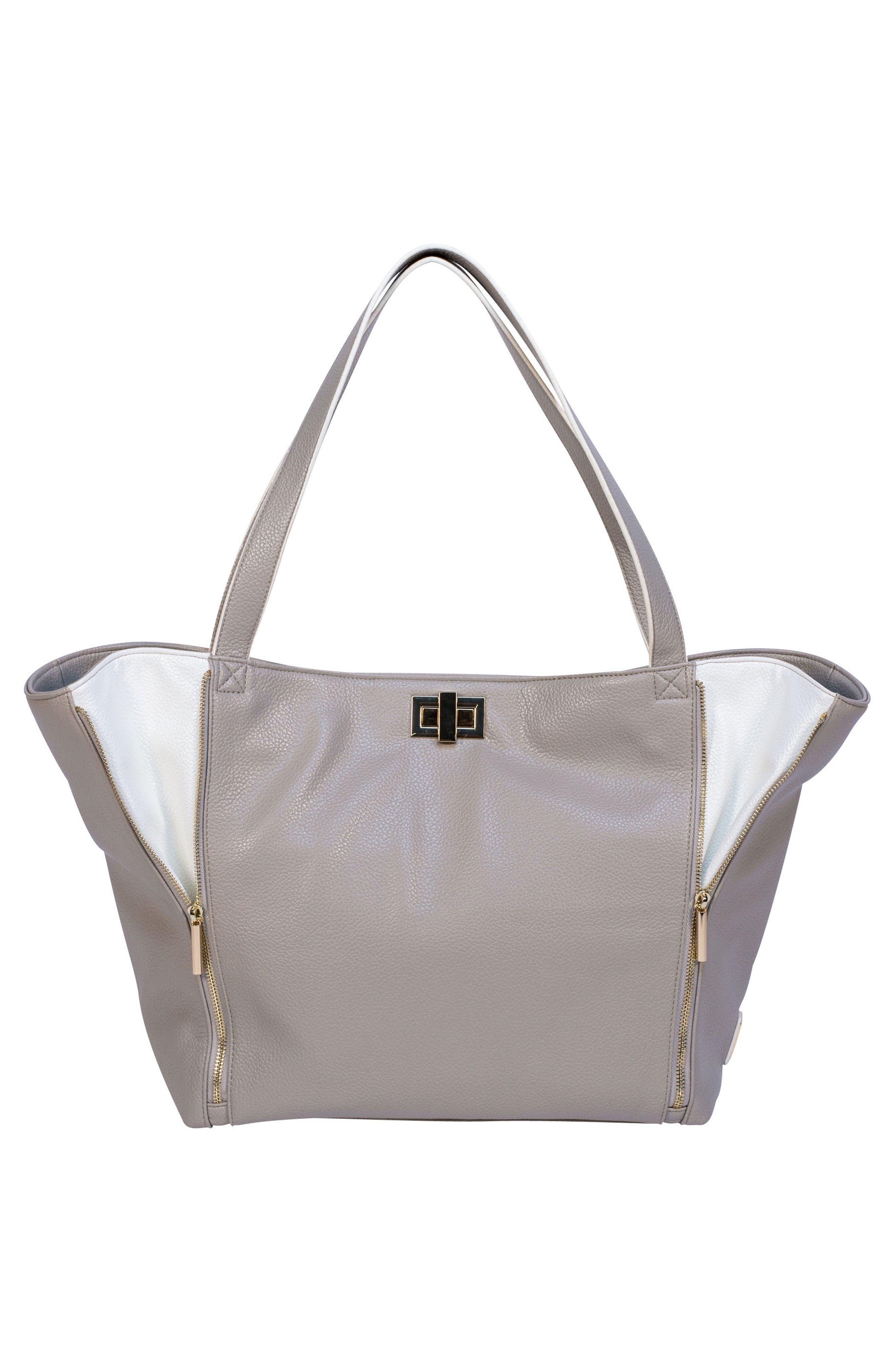 Sloane Diaper Bag,                             Alternate thumbnail 2, color,                             Neutral/ White