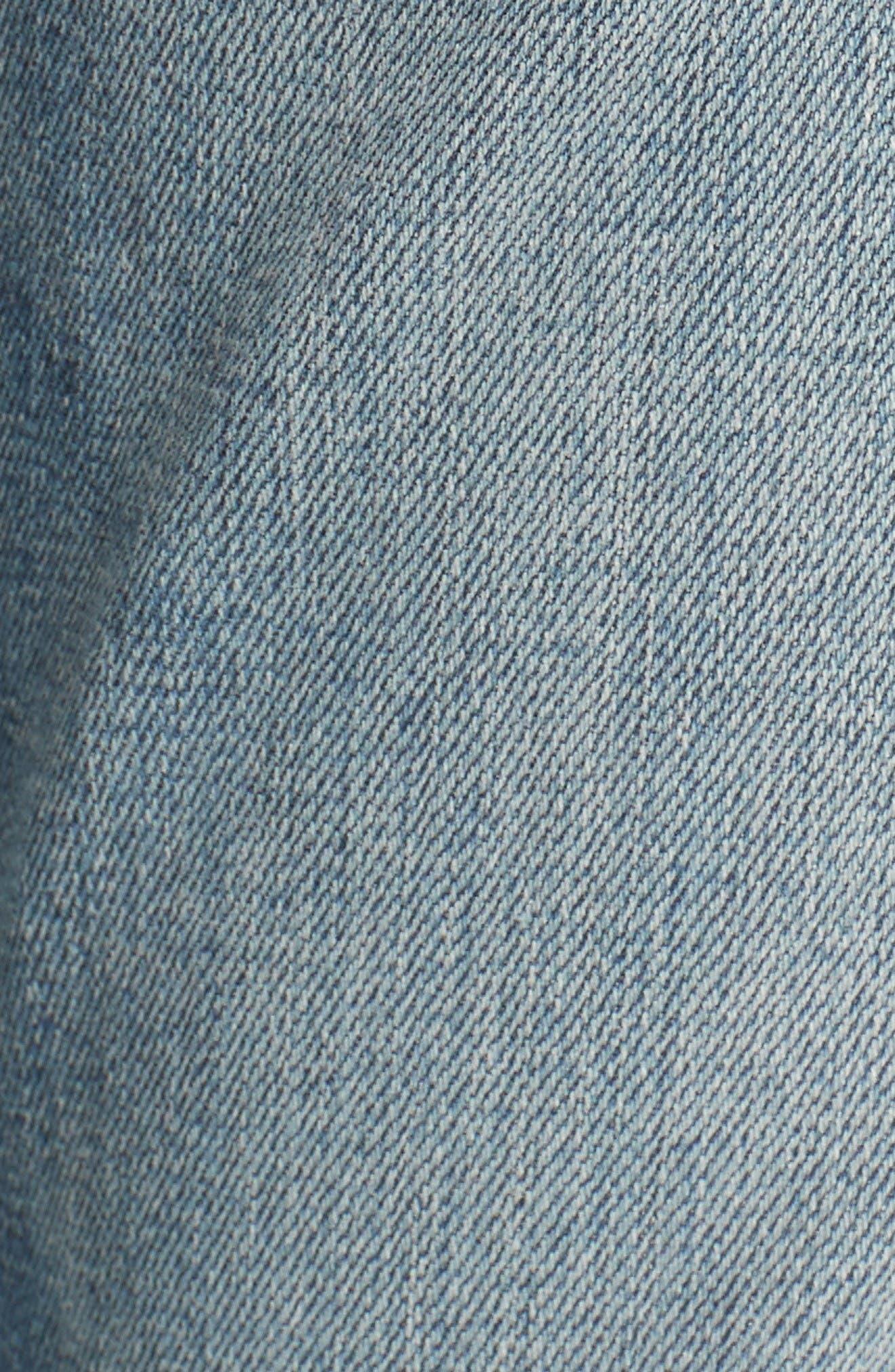 Alternate Image 5  - rag & bone/JEAN The Dre Capri Slim Boyfriend Jeans (Delamo)