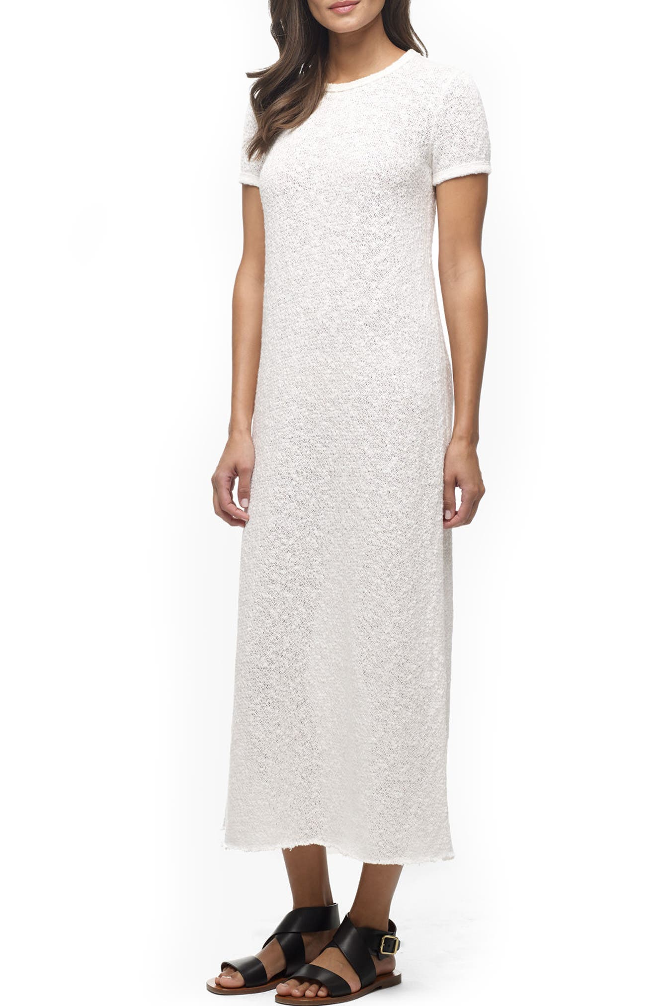 James Perse 'Web Jersey' Short Sleeve Maxi Dress