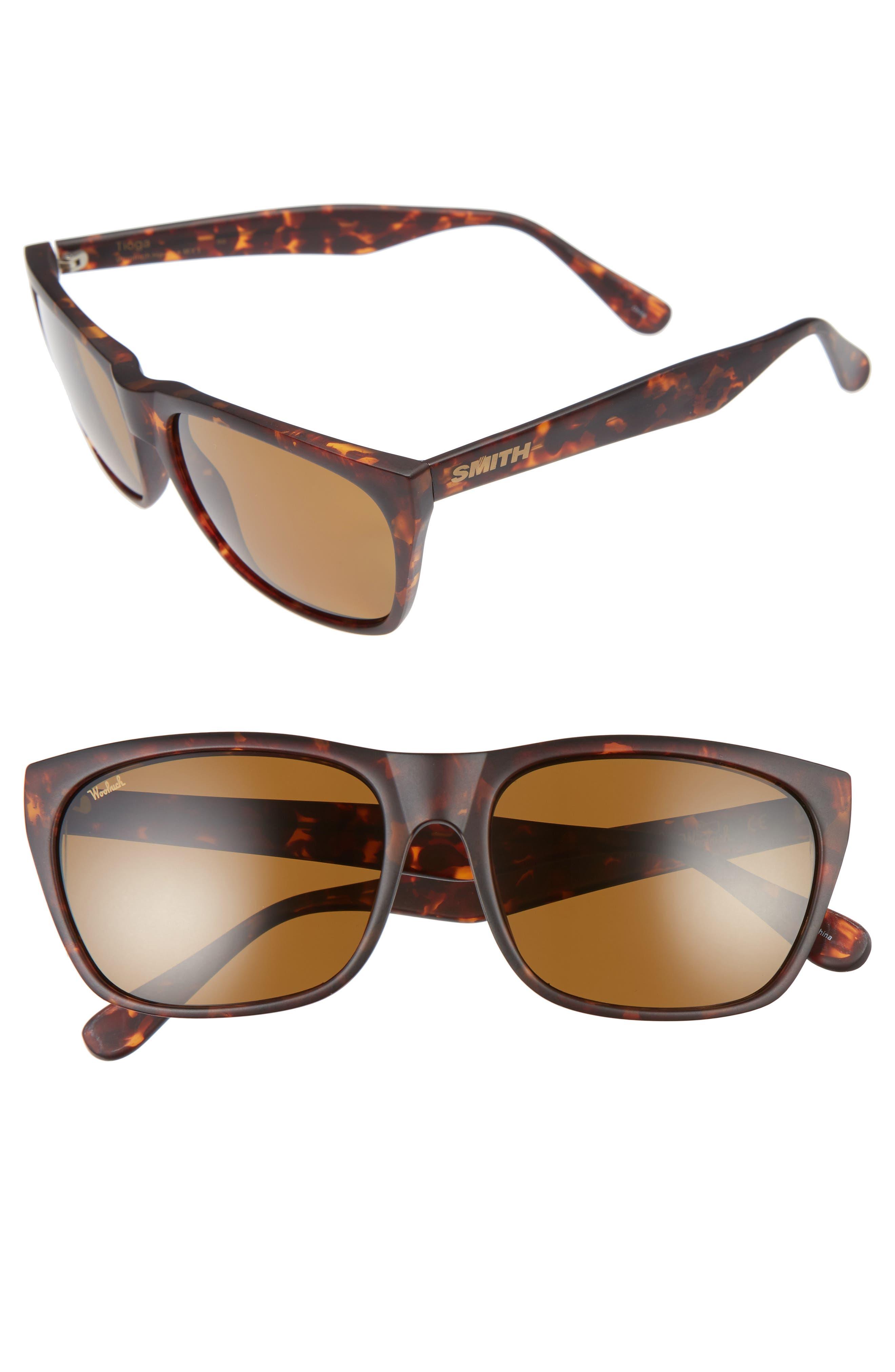 Tioga 57mm Polarized Sunglasses,                         Main,                         color, Vintage Havana Matte