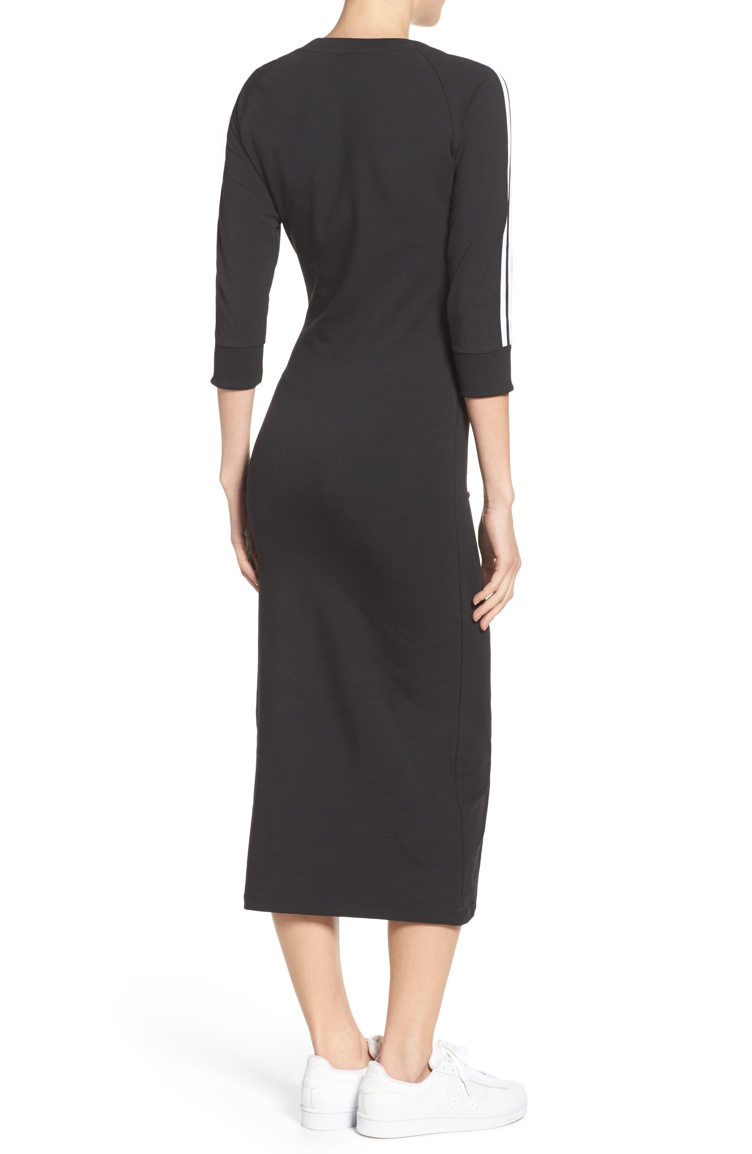 Originals 3-Stripes Dress,                             Alternate thumbnail 2, color,                             Black