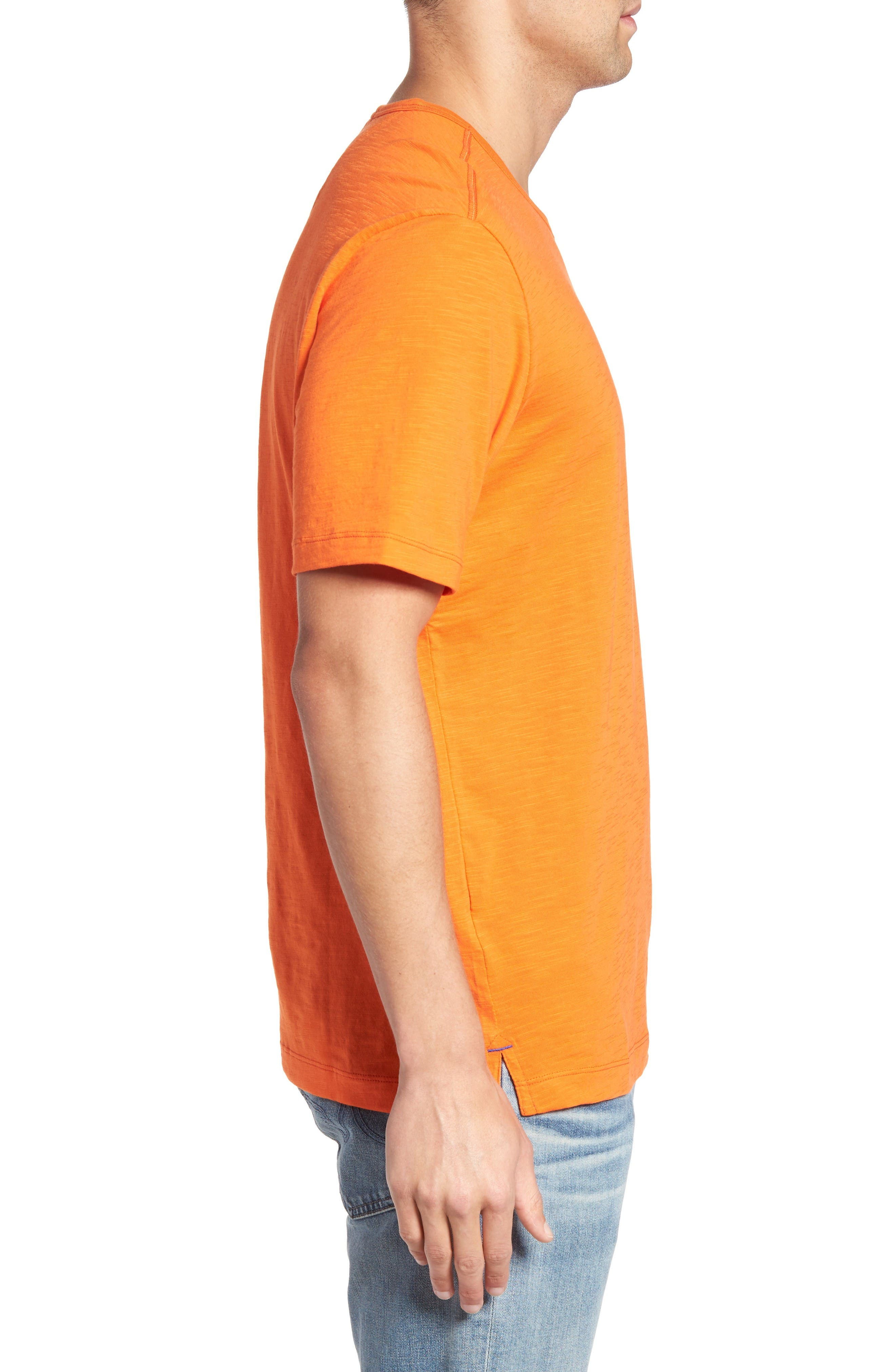 'Portside Player' Pima Cotton T-Shirt,                             Alternate thumbnail 3, color,                             Citrus Punch