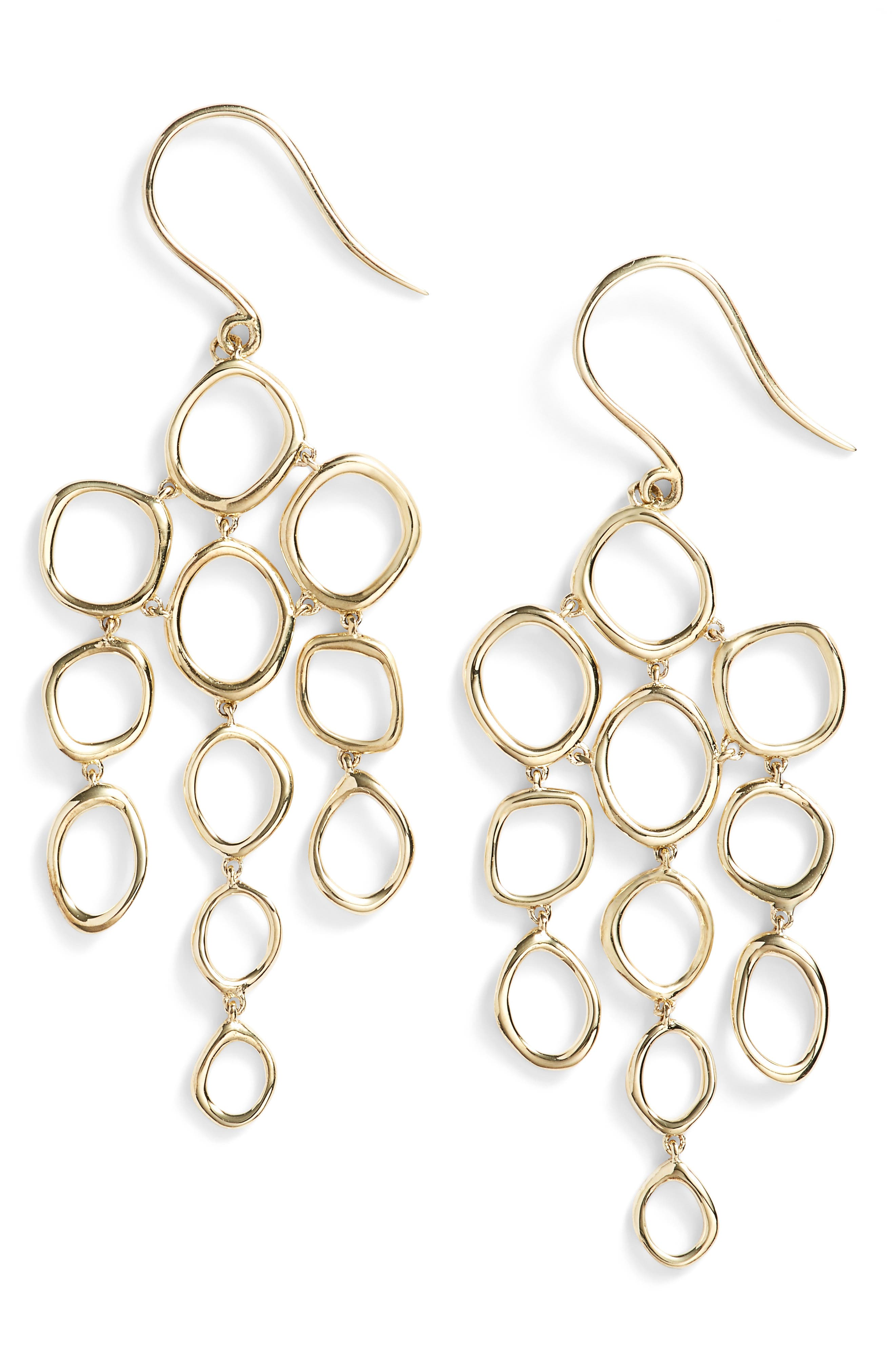 BONY LEVY Geo Circle Chandelier Earrings