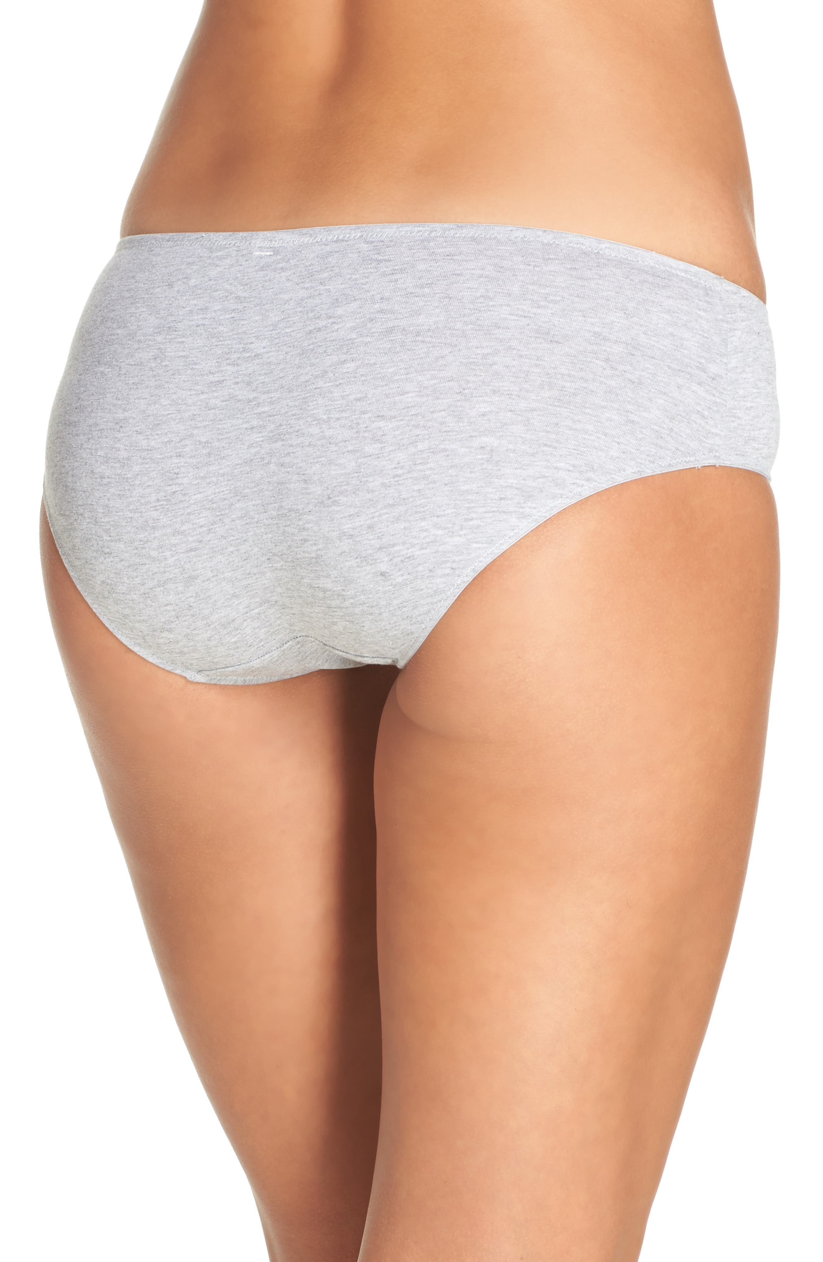 Hipster Panties,                             Alternate thumbnail 2, color,                             Heathered Pelican