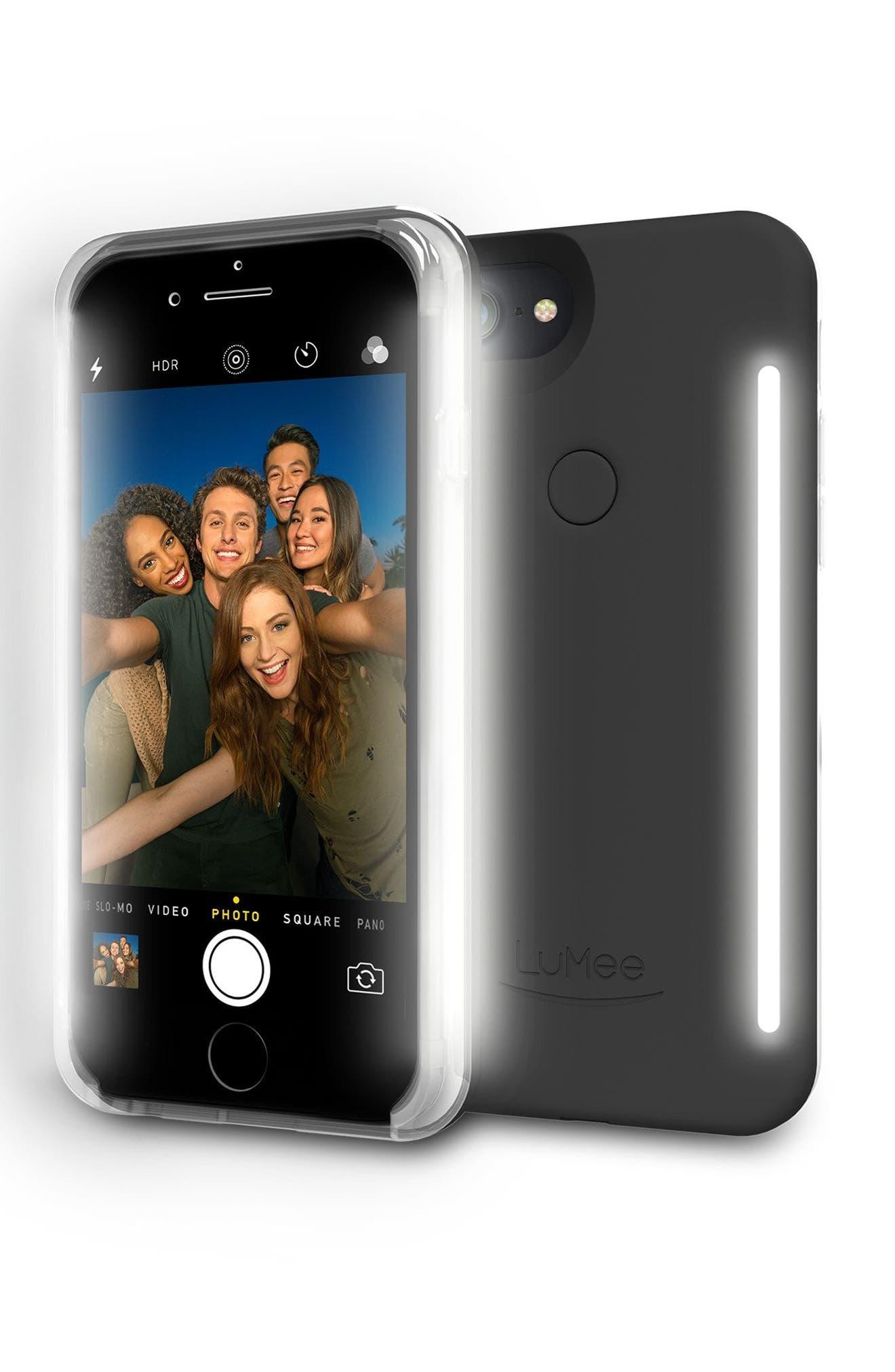 LuMee Duo LED Lighted iPhone 6/6s/7/8 & 6/6s/7/8 Plus Case