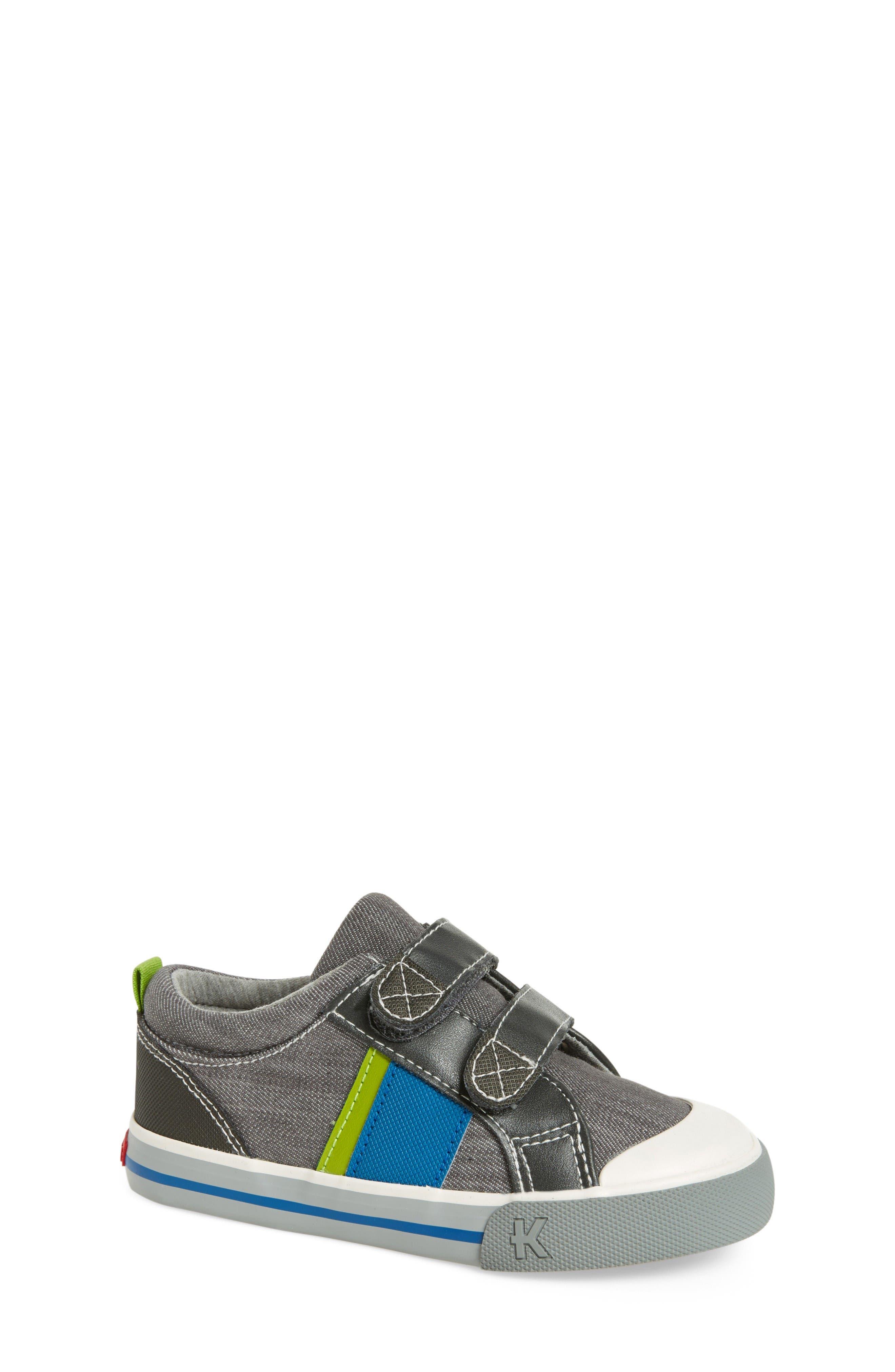 Russell Sneaker,                         Main,                         color, Grey Denim