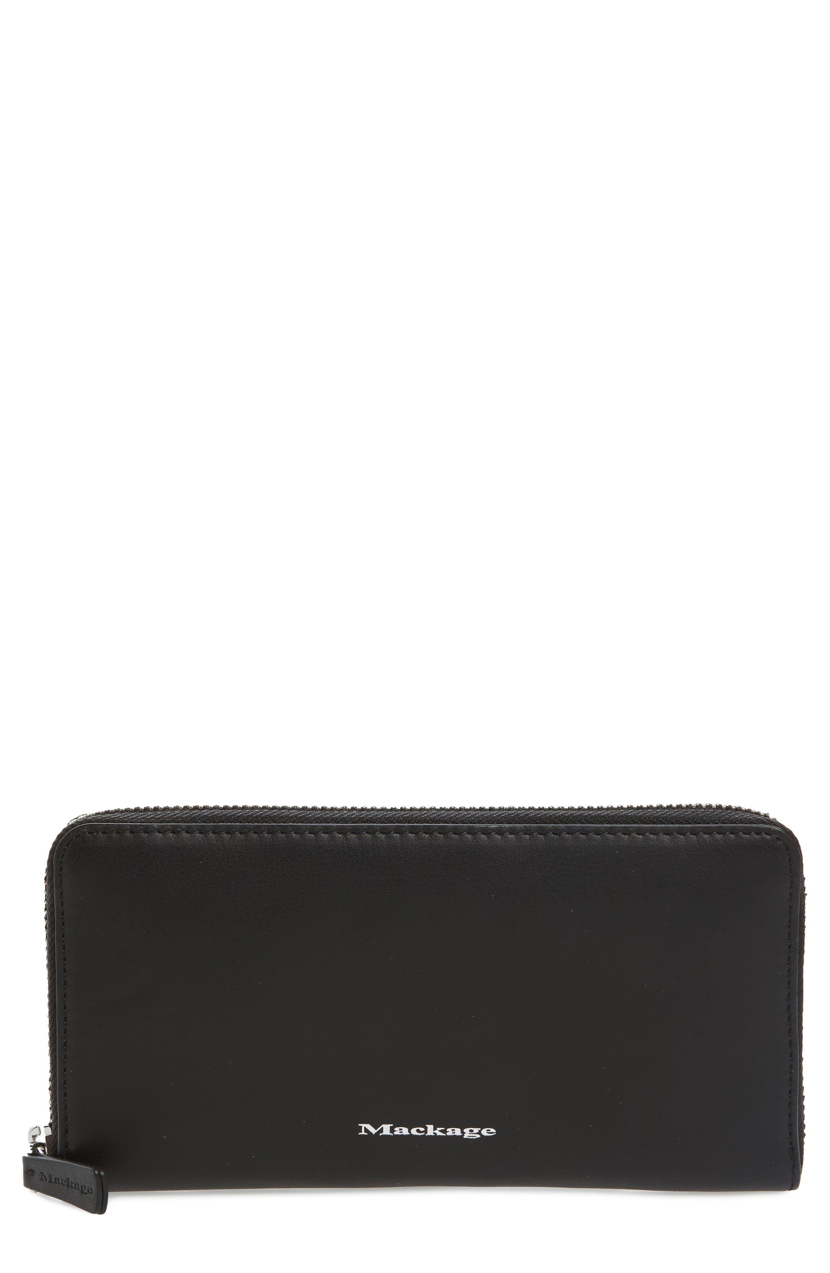 Mackage Duke Zip Around Leather Wallet