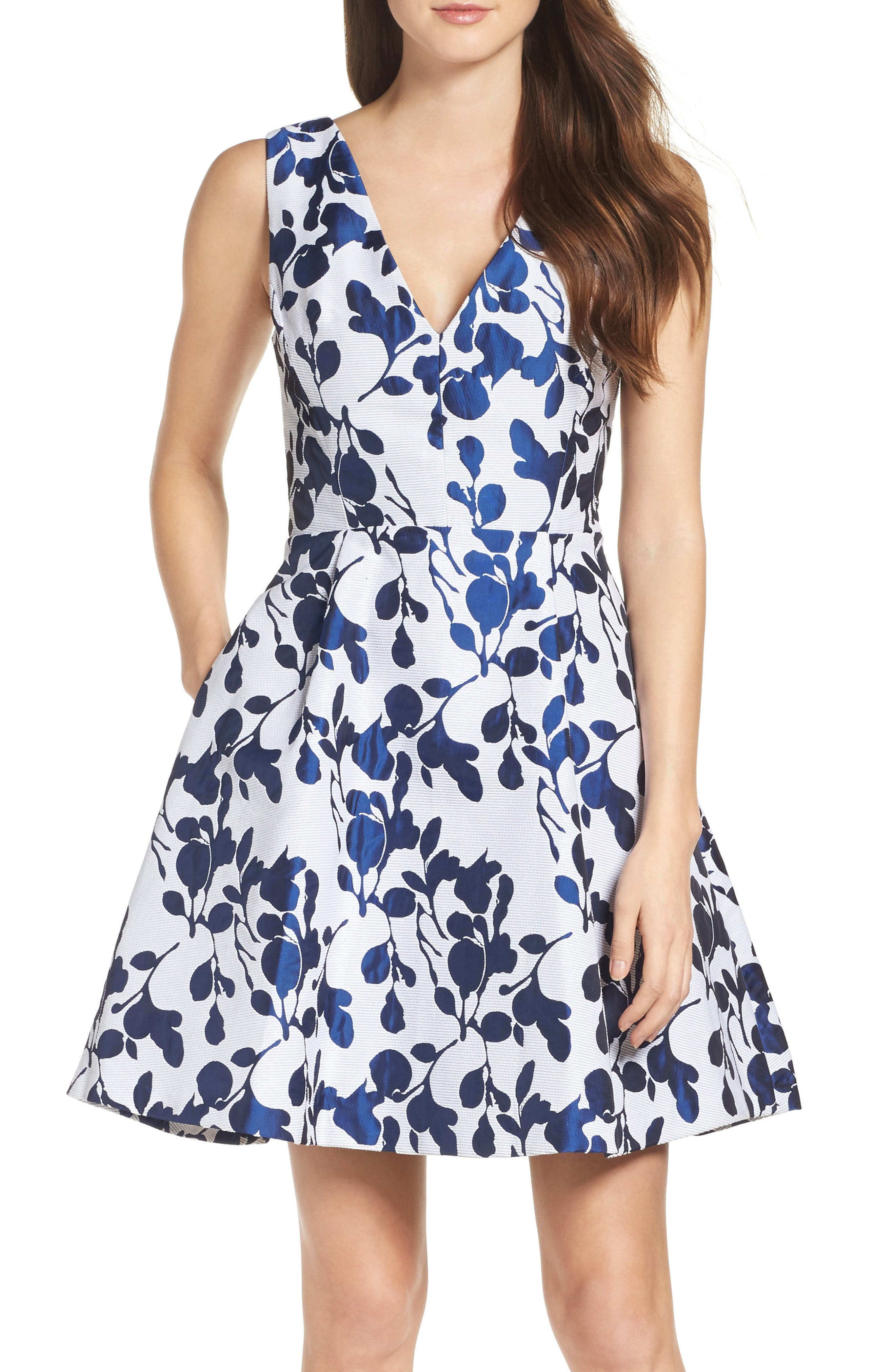 Alternate Image 1 Selected - Betsey Johnson Fit & Flare Dress