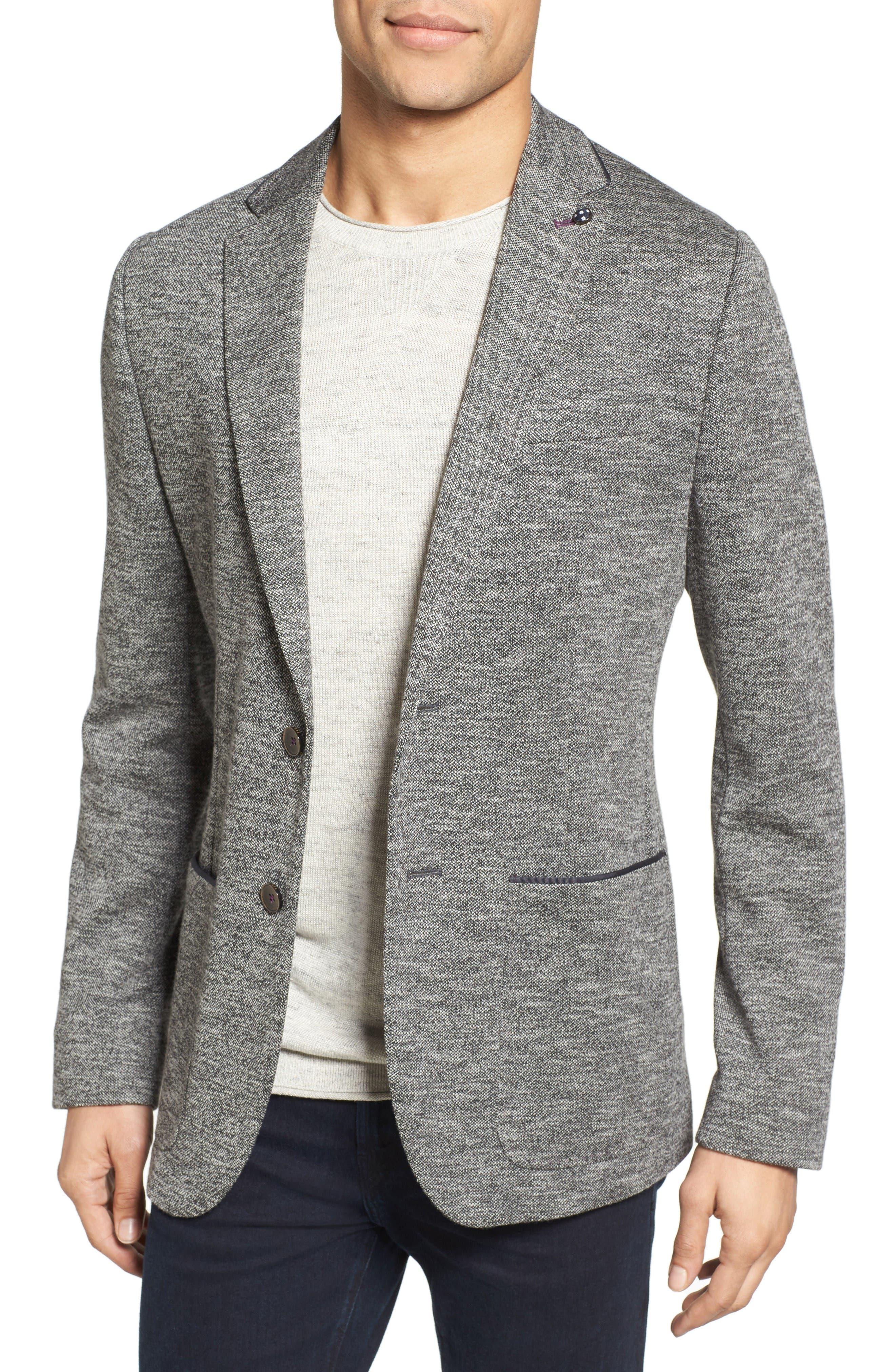 TED BAKER LONDON Italy Modern Slim Fit Textured Jersey Blazer