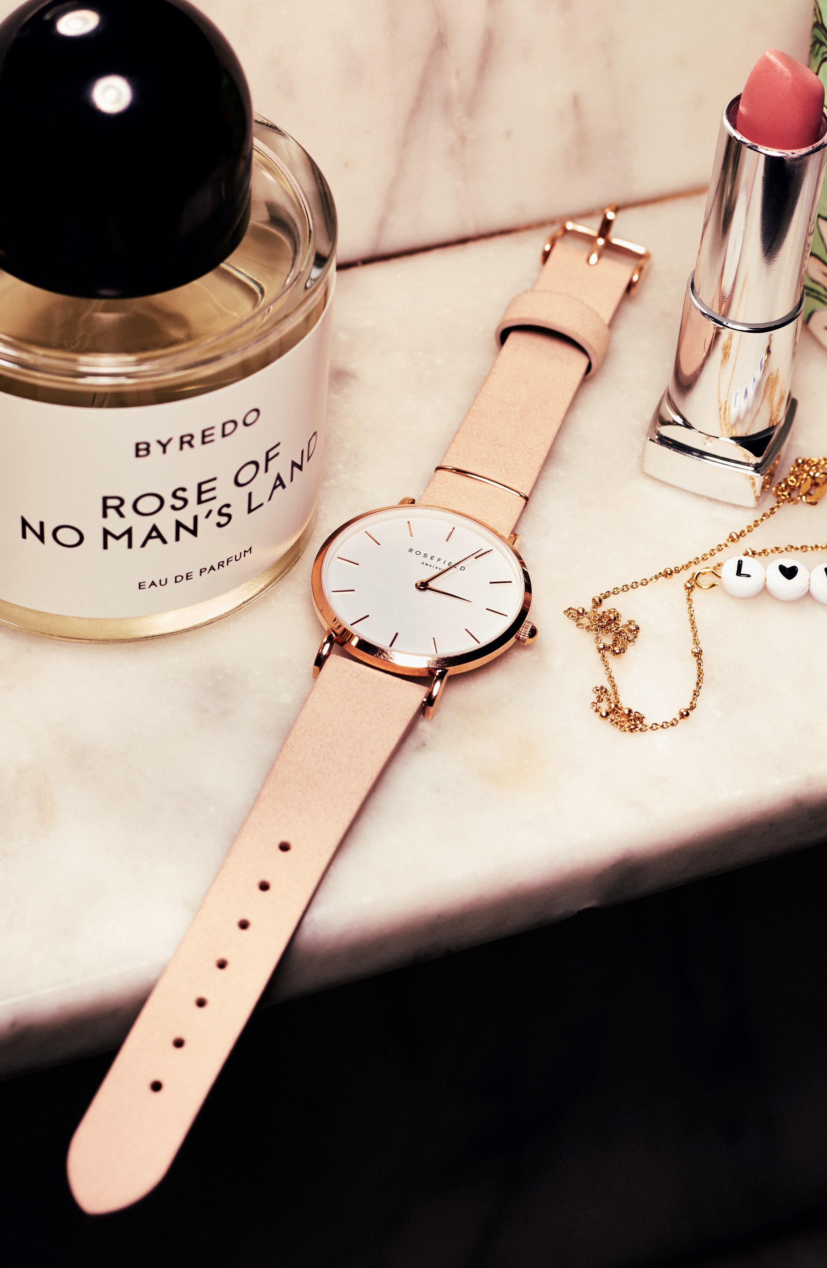 West Village Leather Strap Watch, 33mm,                             Alternate thumbnail 2, color,                             Soft Pink/ White/ Rose Gold