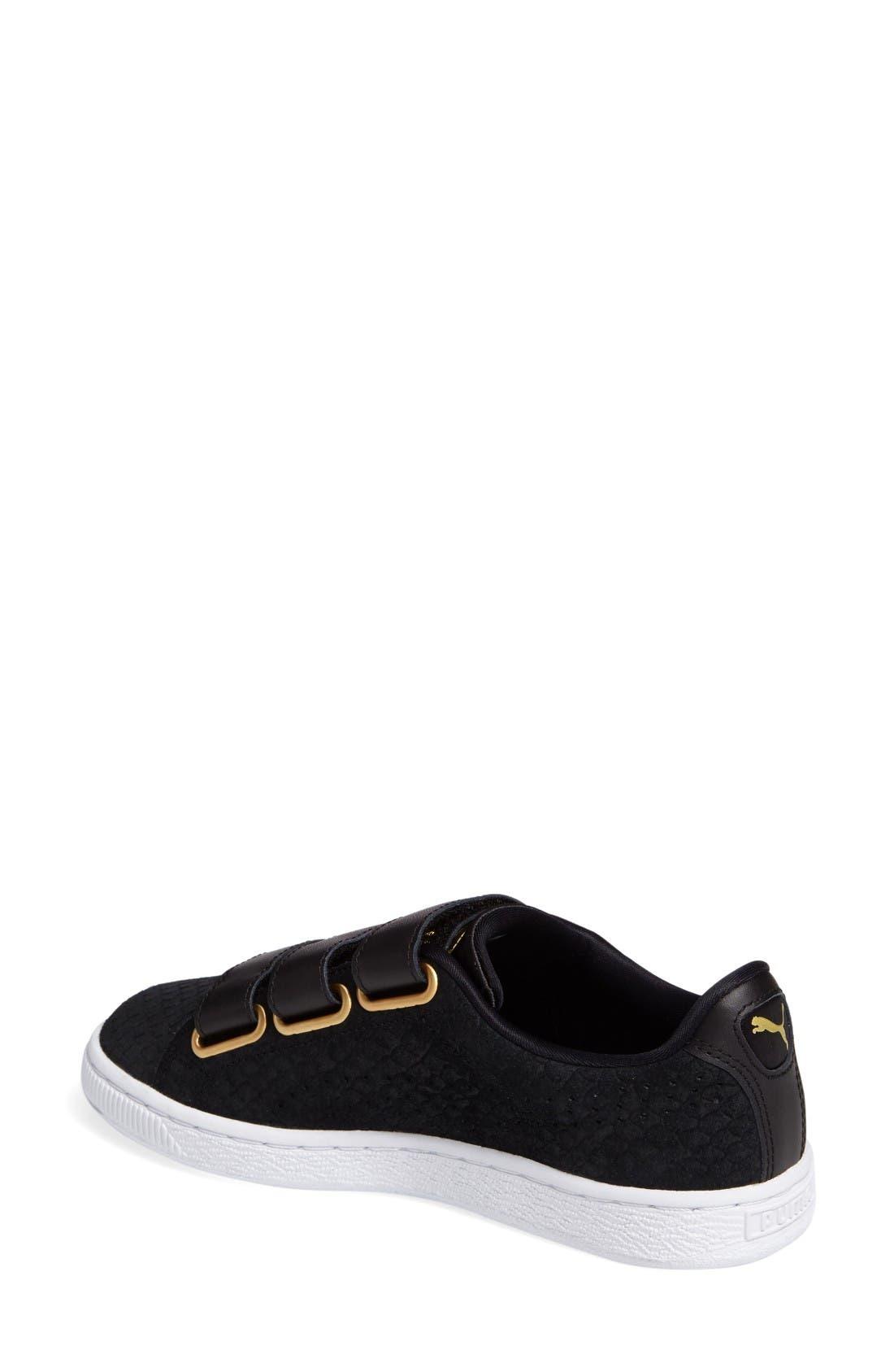 Alternate Image 2  - PUMA Basket Strap ExoticSkin Sneaker (Women)