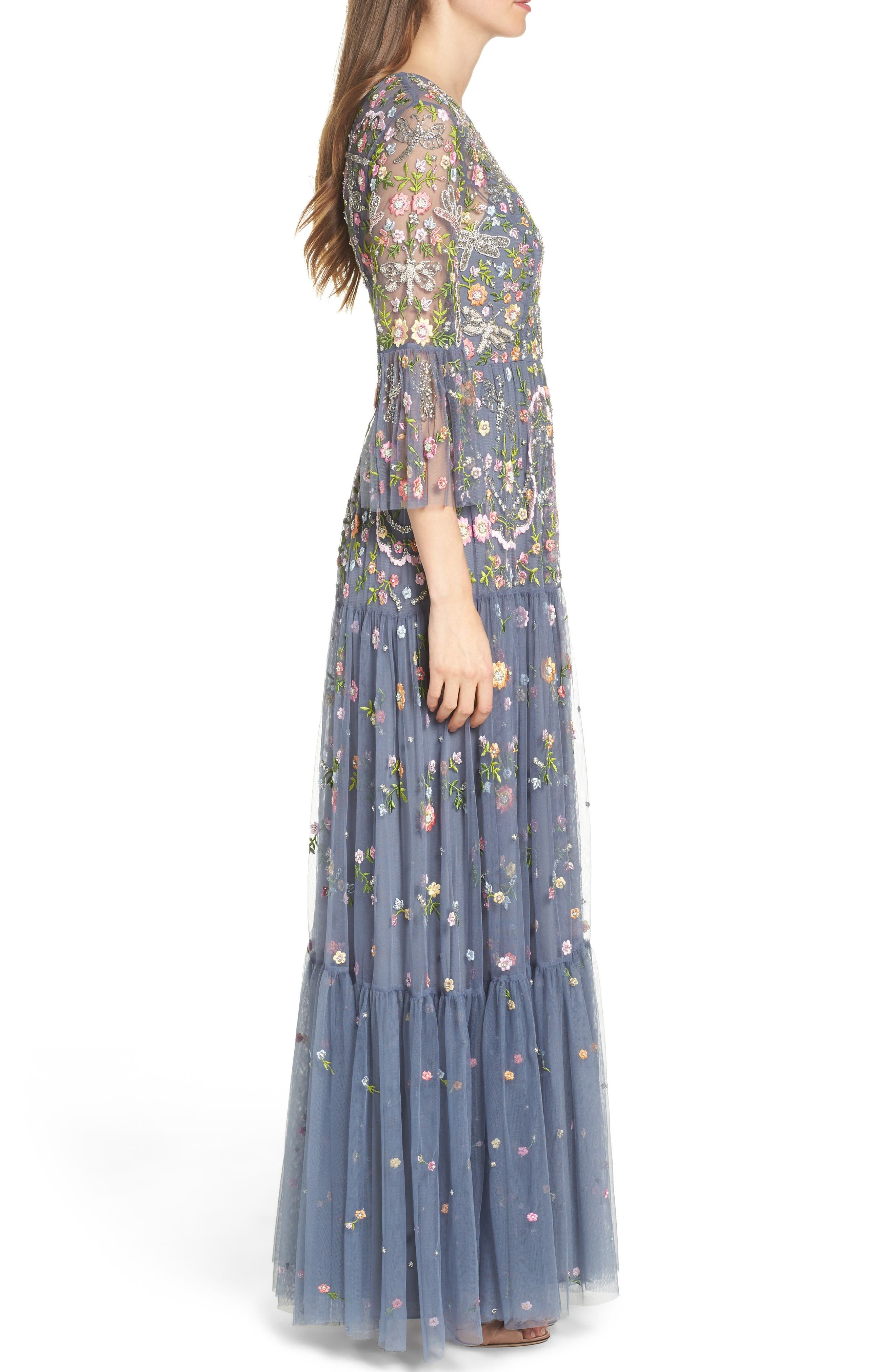 Alternate Image 3  - Needle & Thread Dragonfly Garden Beaded Tulle Gown