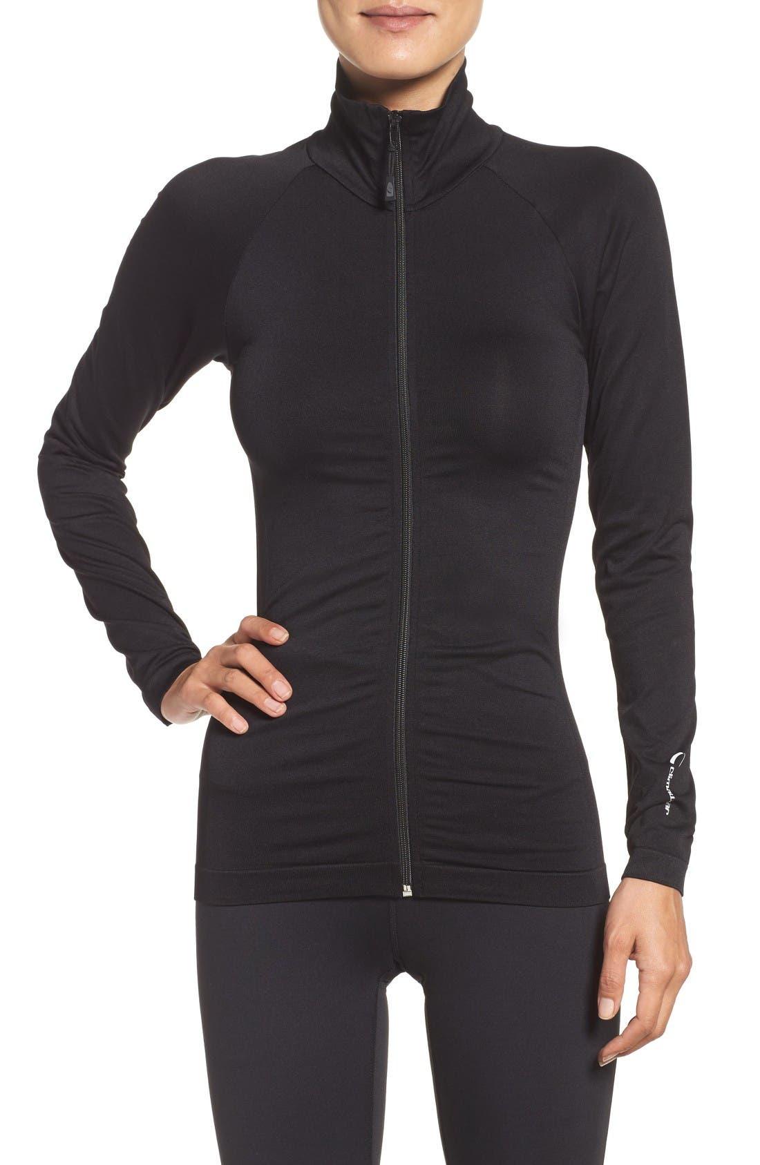 Finish Line Jacket,                         Main,                         color, Solid Black